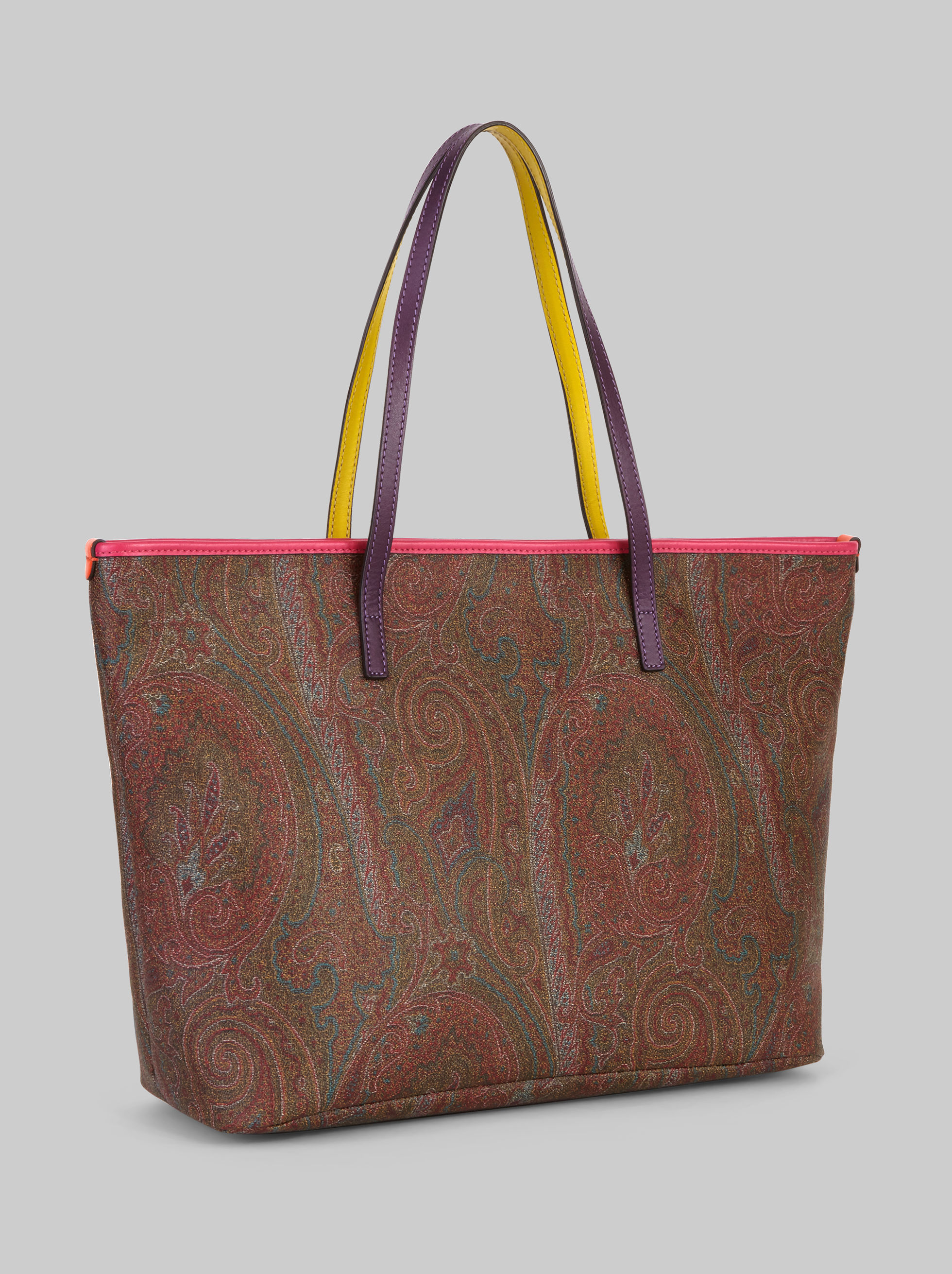 PAISLEY SHOPPINGTASCHE MIT MULTICOLOR-DETAILS