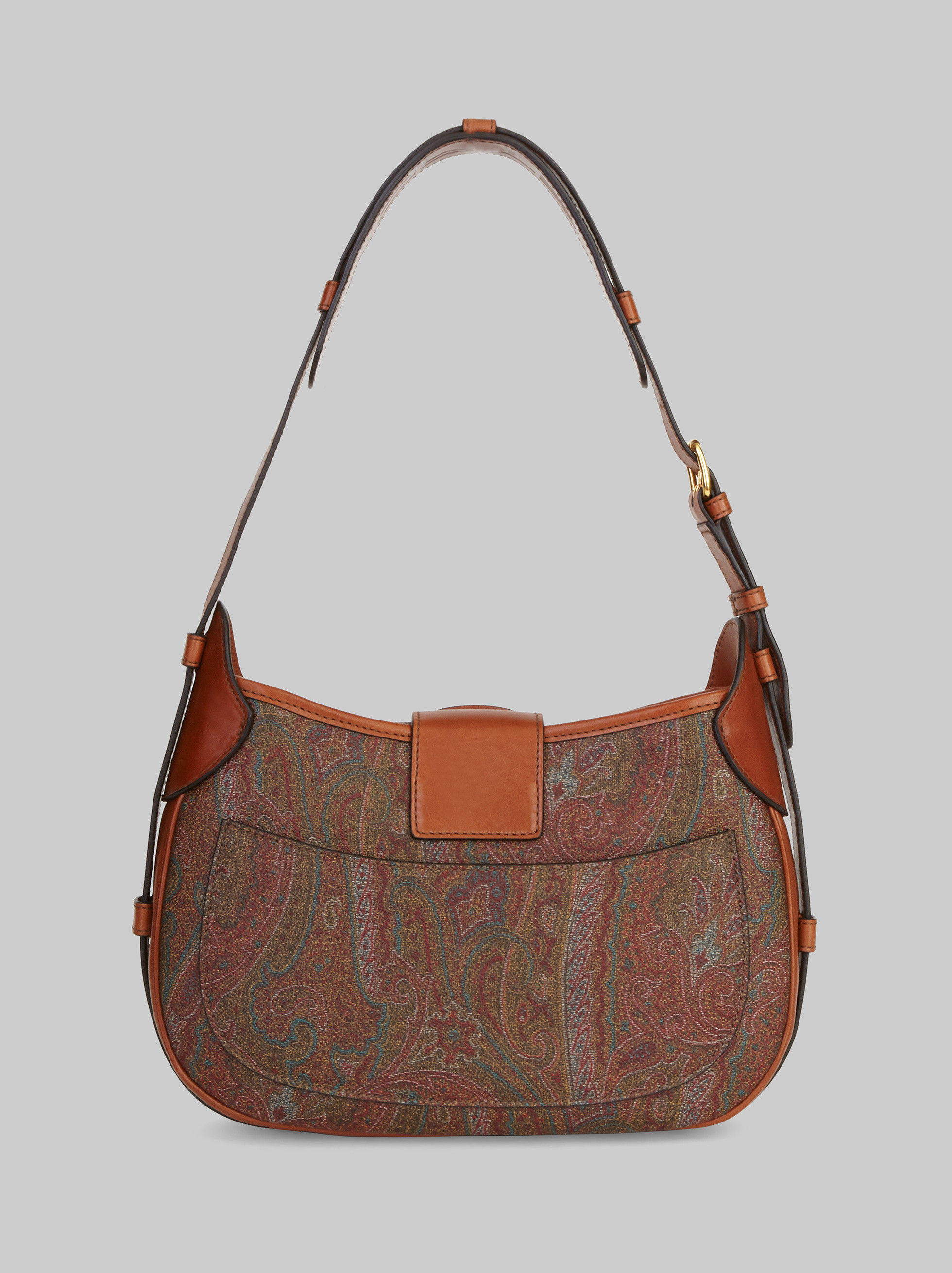 LEATHER AND PAISLEY PEGASO BAG