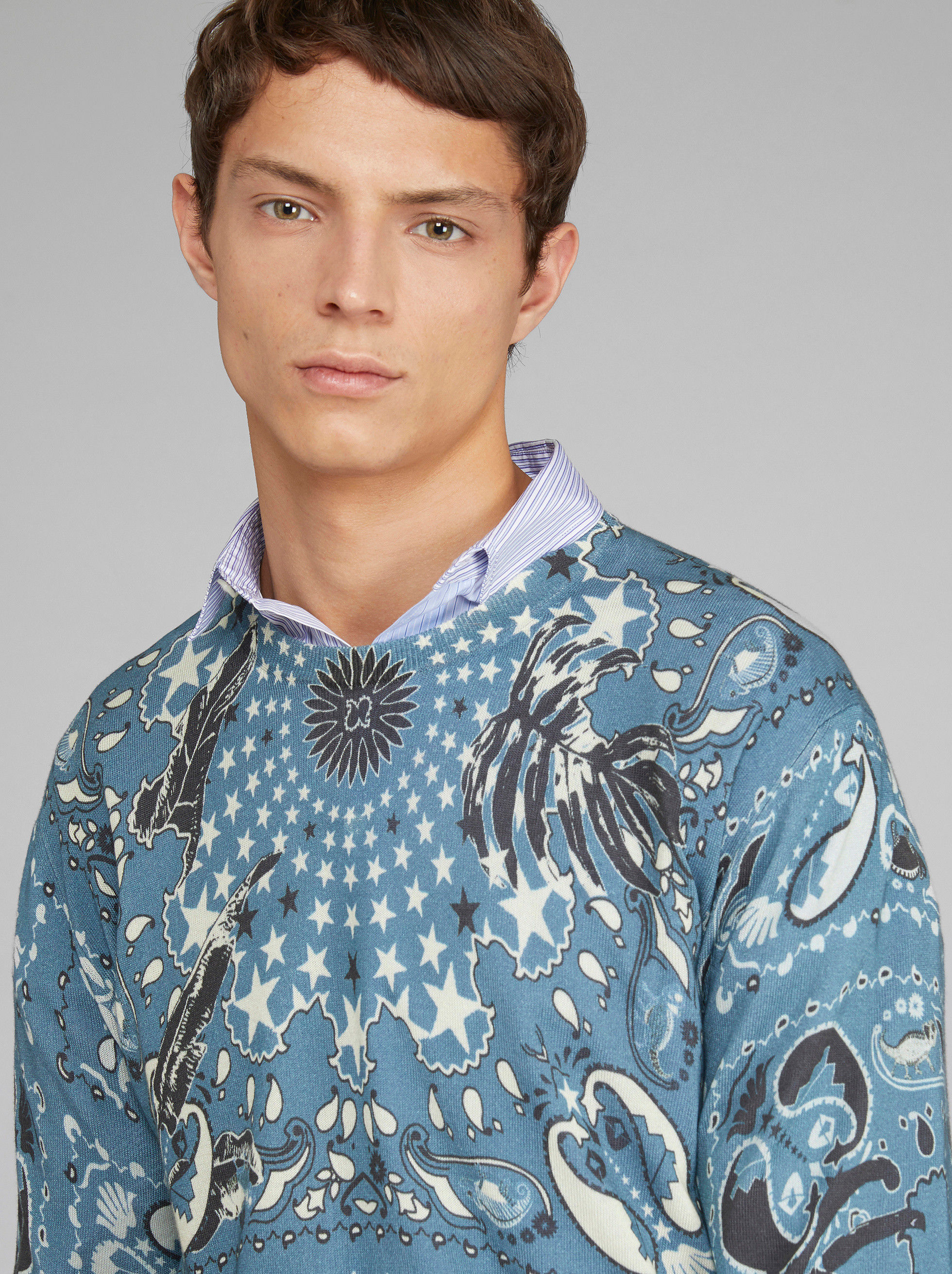 BANDANA PRINT COTTON JUMPER