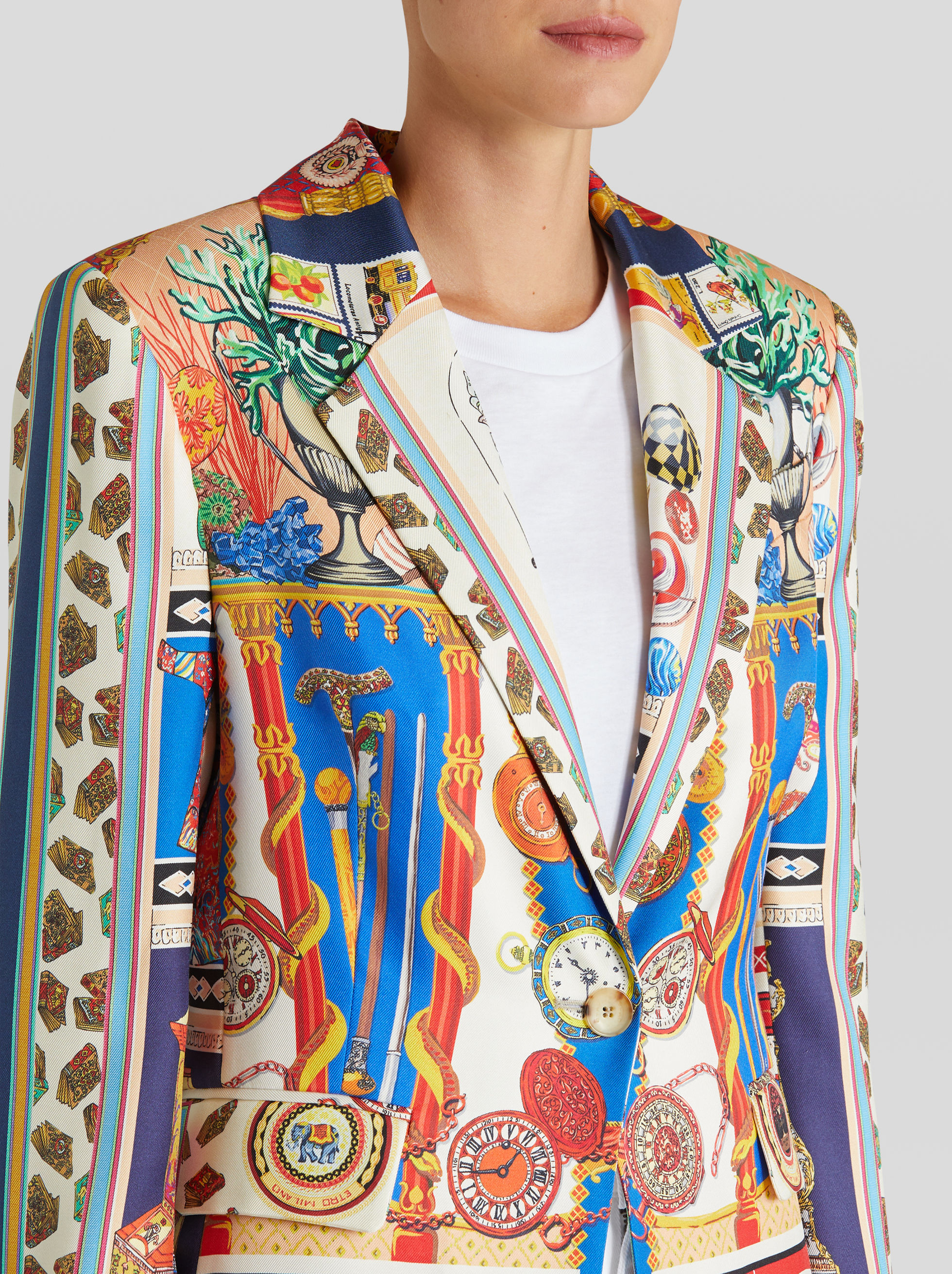 SILK JACKET WITH WUNDERKAMMER PRINT