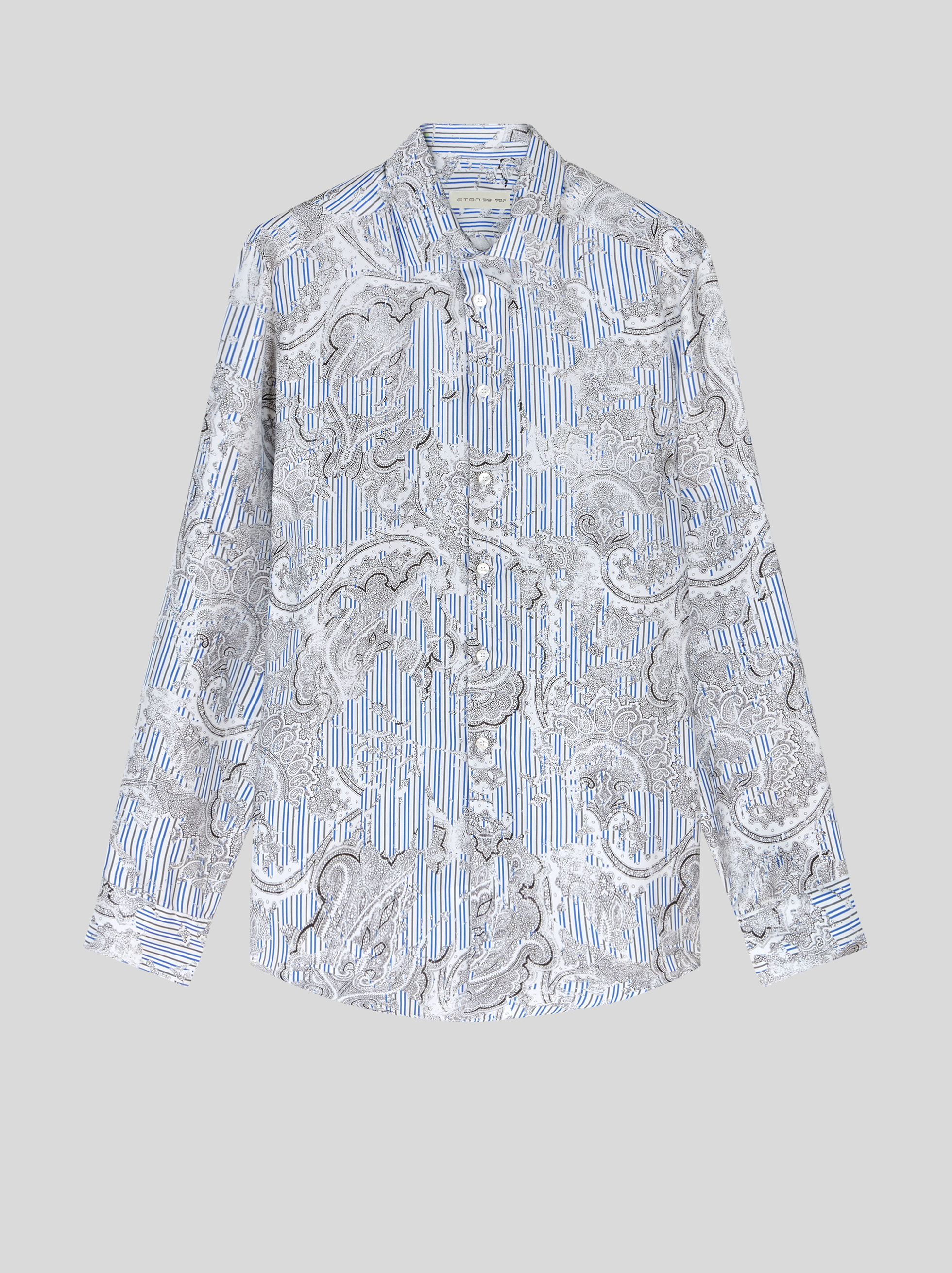 STRIPED SILK WITH PAISLEY SHIRT