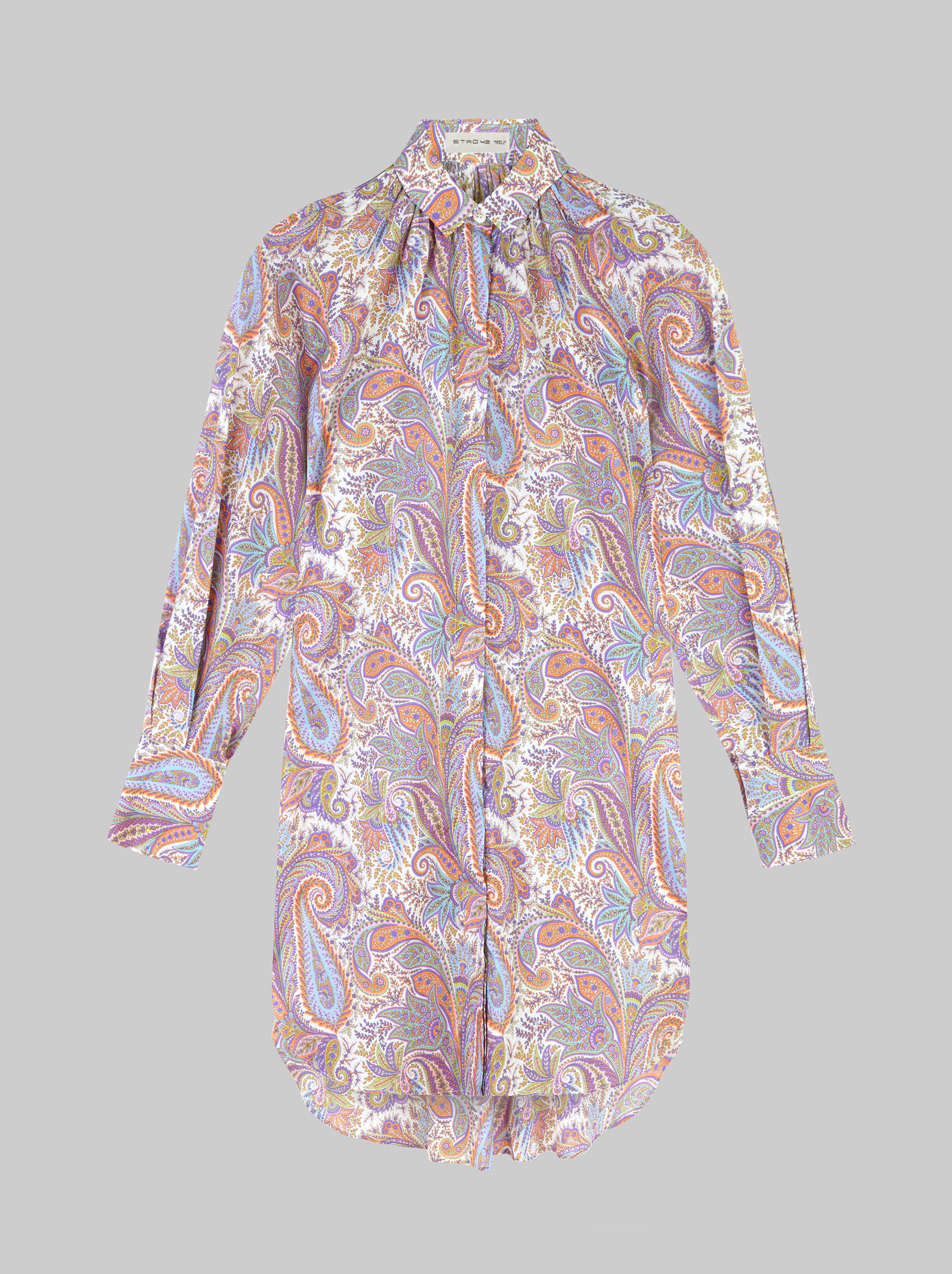 SHIRT WITH PAISLEY PLANT PATTERNS