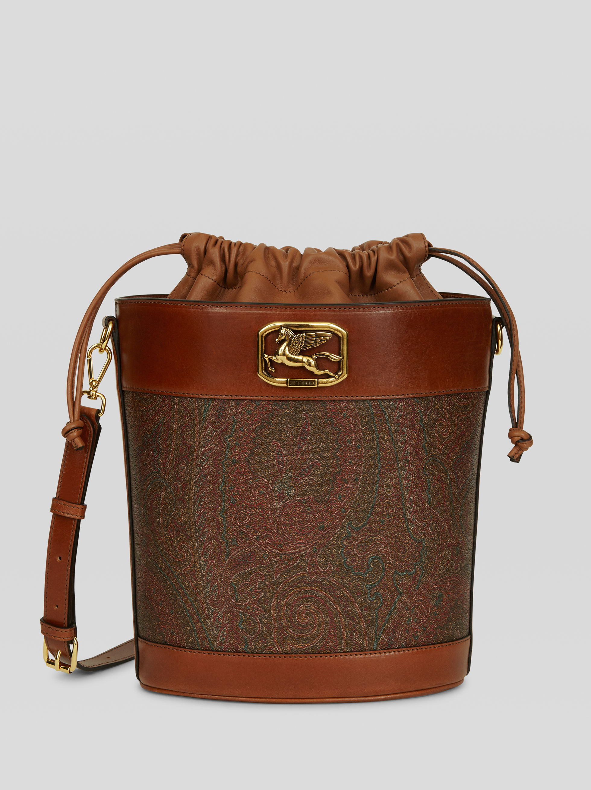 PAISLEY BUCKET BAG WITH PEGASO