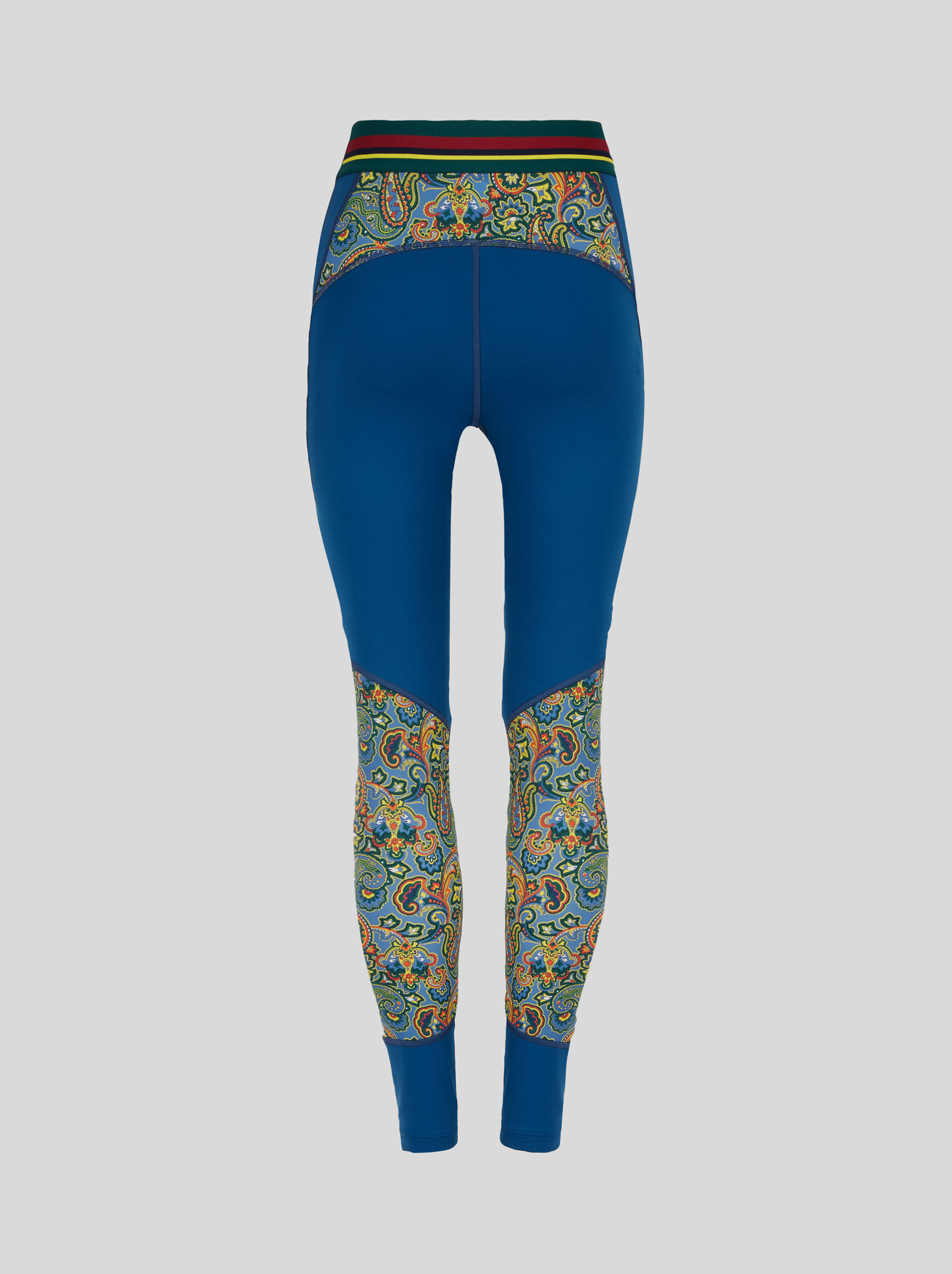 FLORAL PAISLEY JERSEY LEGGINGS