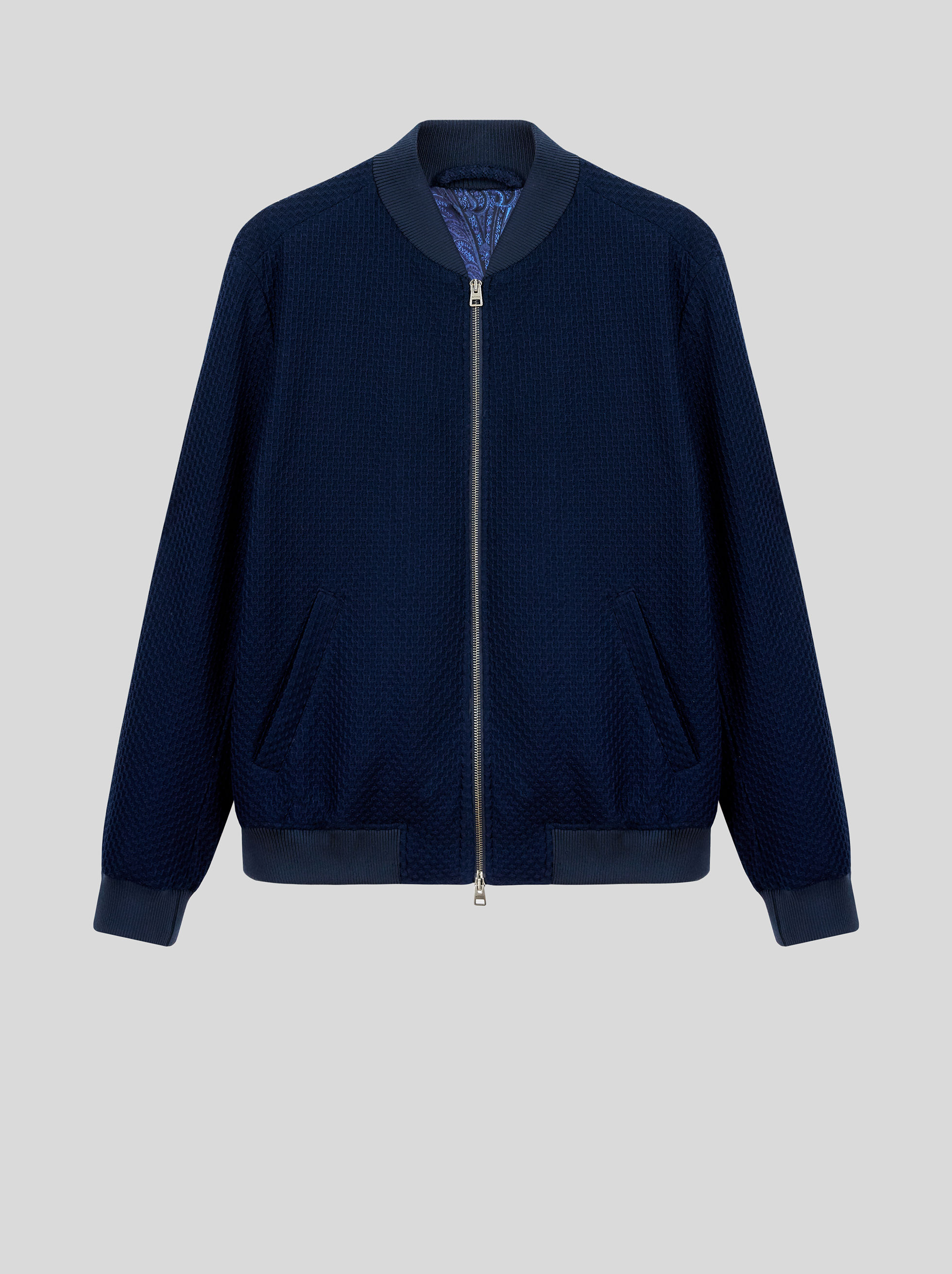 COTTON JERSEY BOMBER JACKET