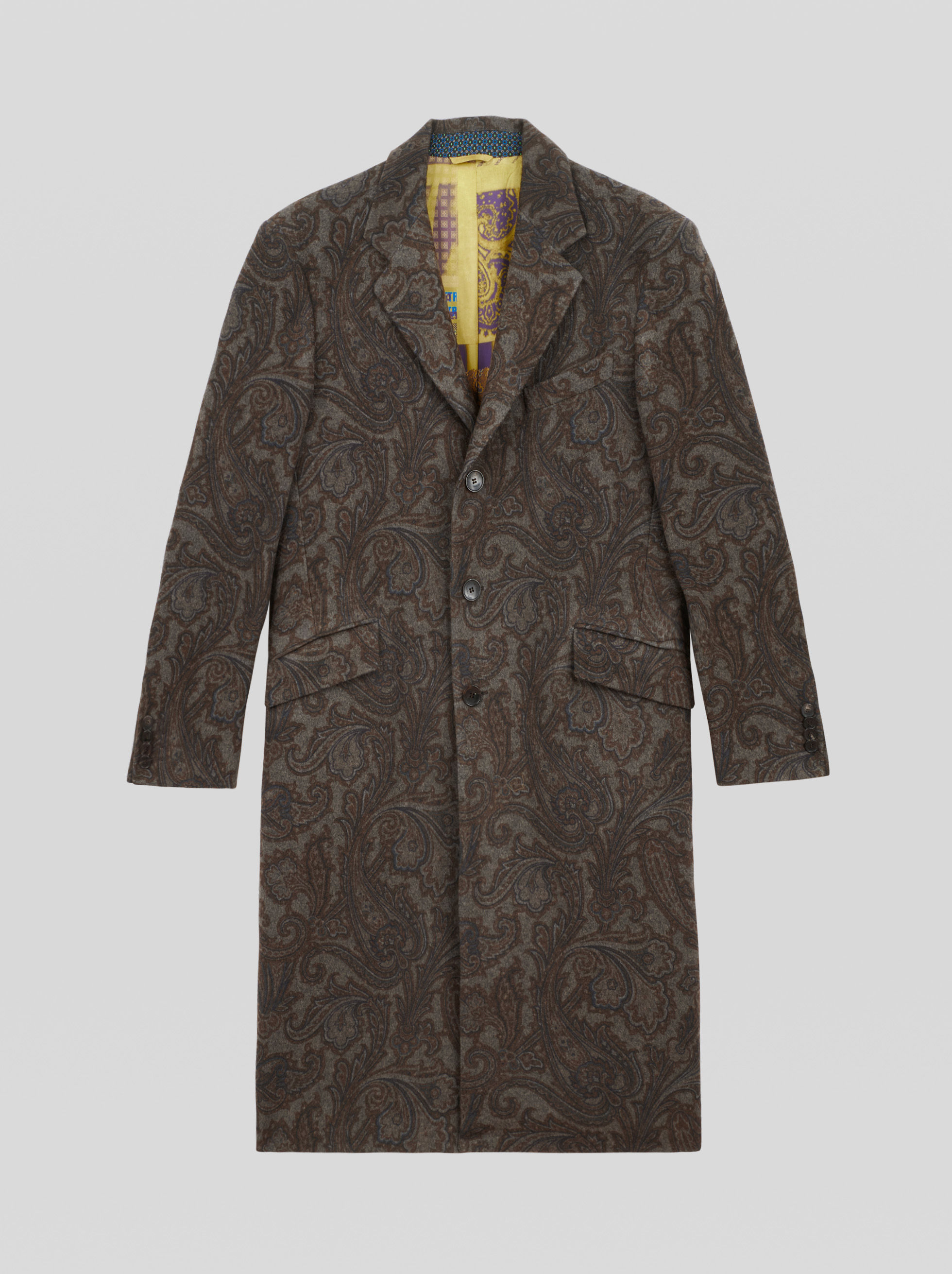 FLORAL PATTERN PAISLEY OVERCOAT