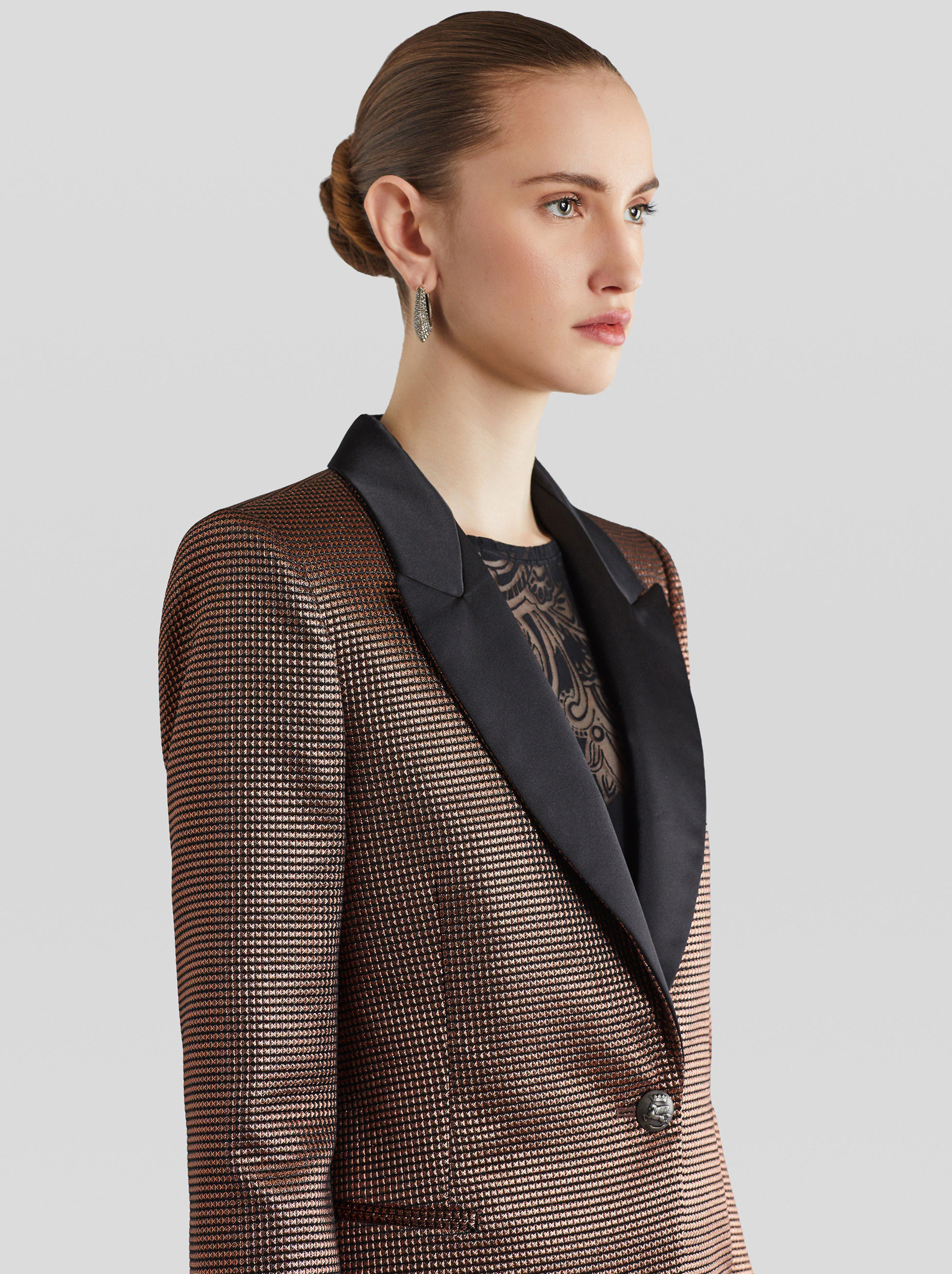 METALLIC TAILORED JACKET
