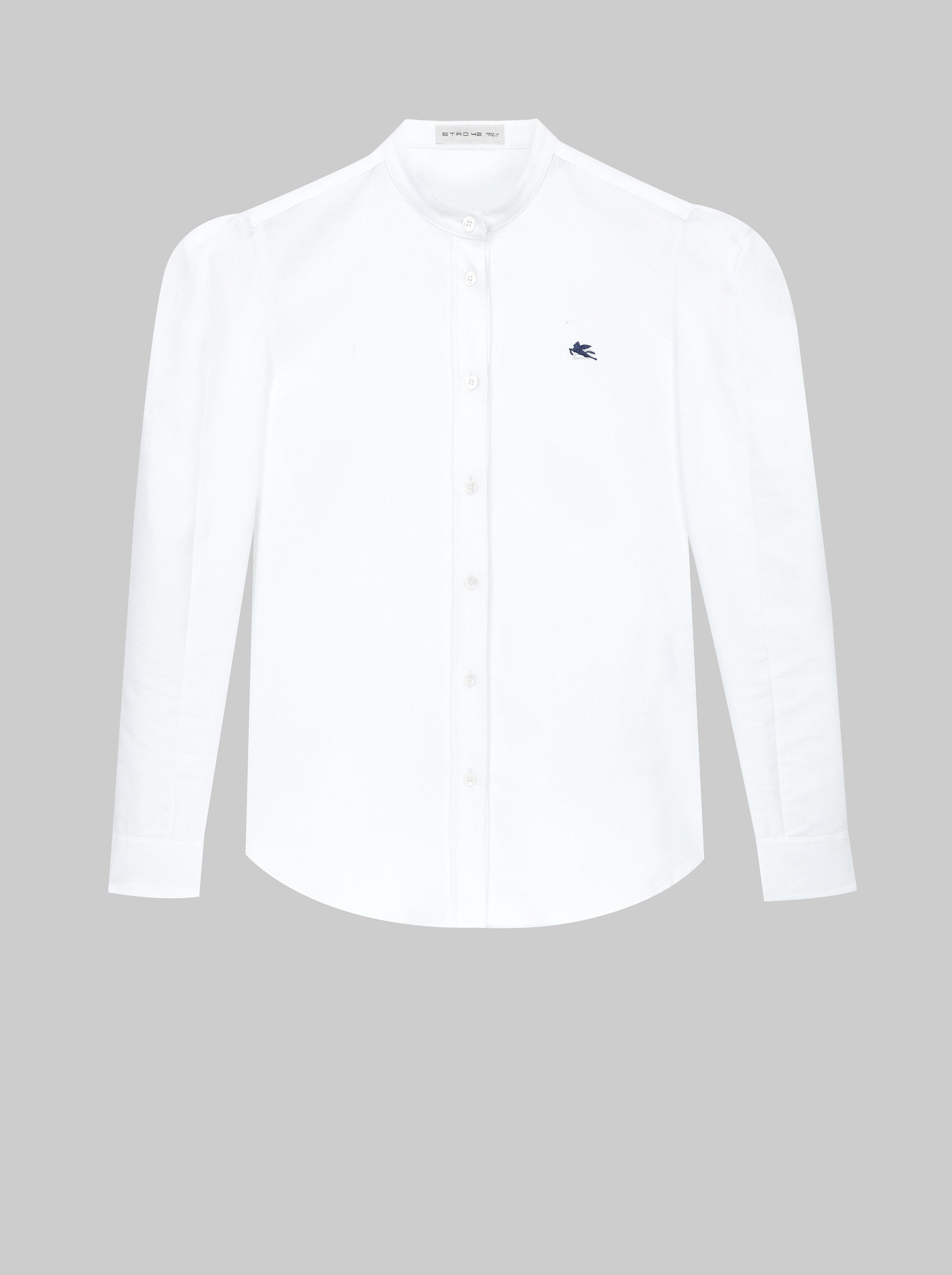 PIQUET COTTON SHIRT WITH PEGASO LOGO