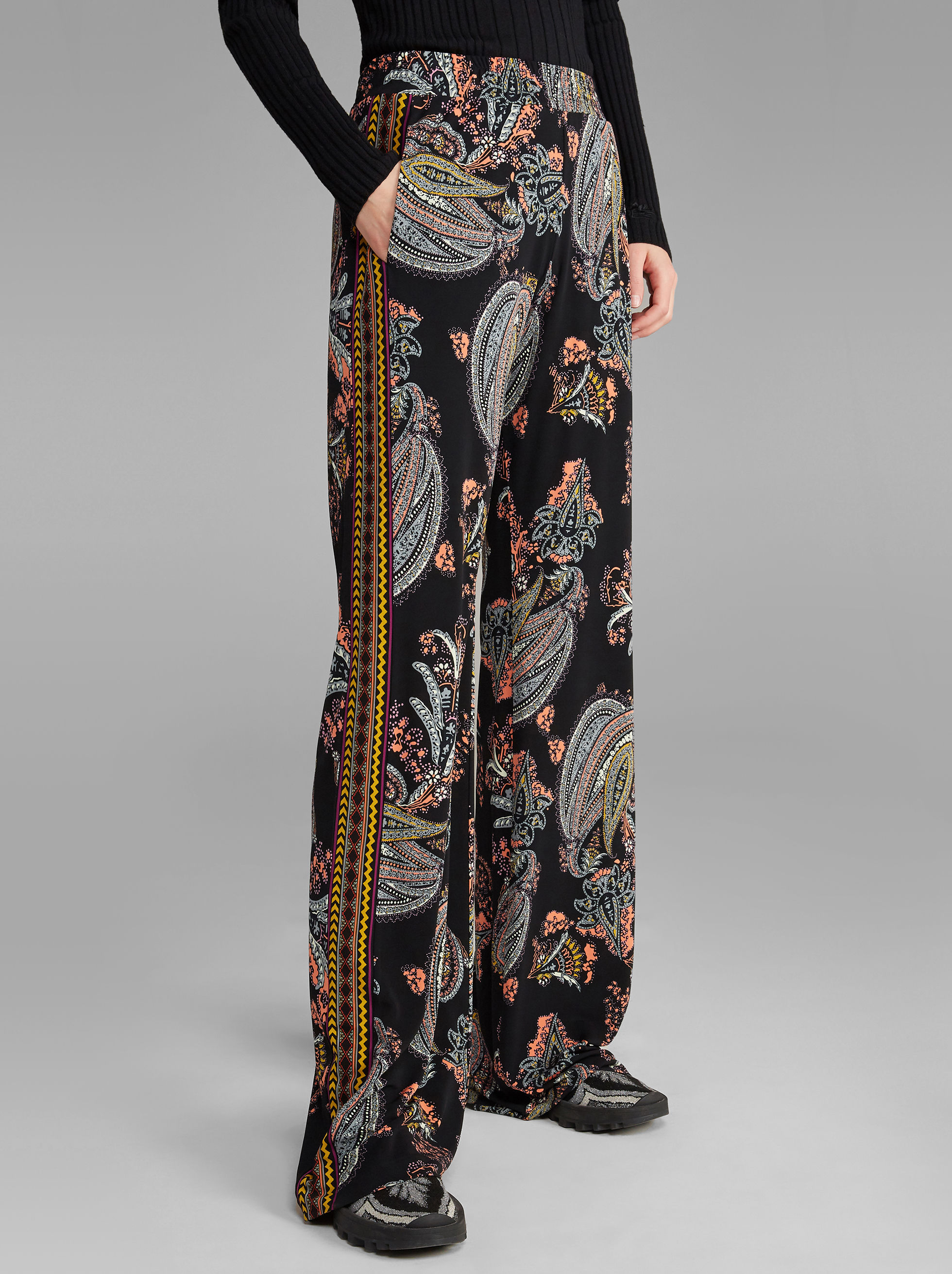 FLORAL PAISLEY-PRINT TROUSERS