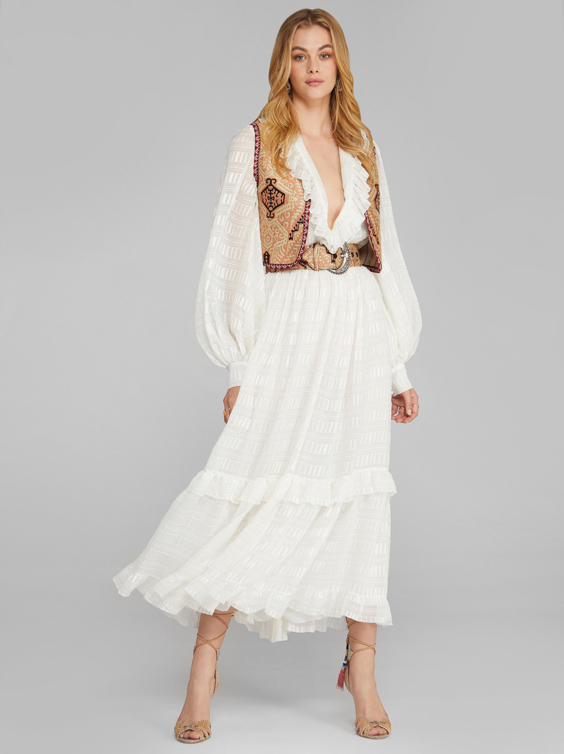LONG JACQUARD DRESS