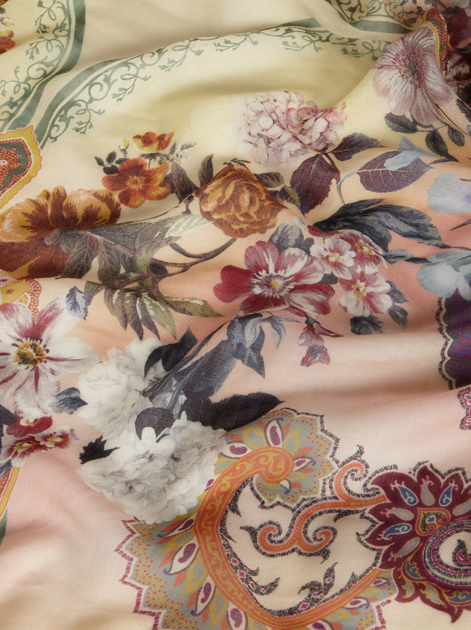 FLORAL PRINT CASHMERE SHAWL
