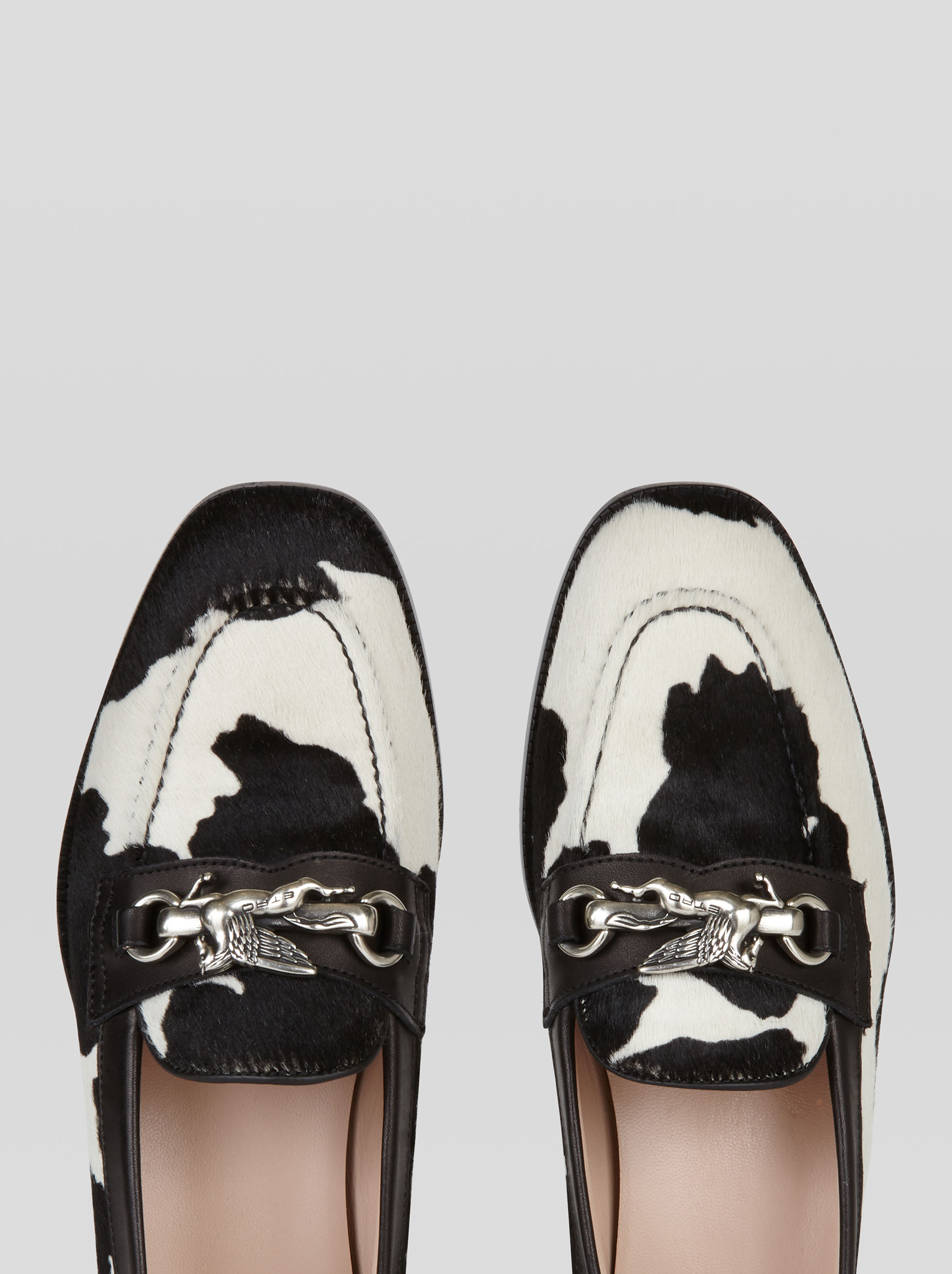 PONY SKIN MOCCASINS WITH PEGASO