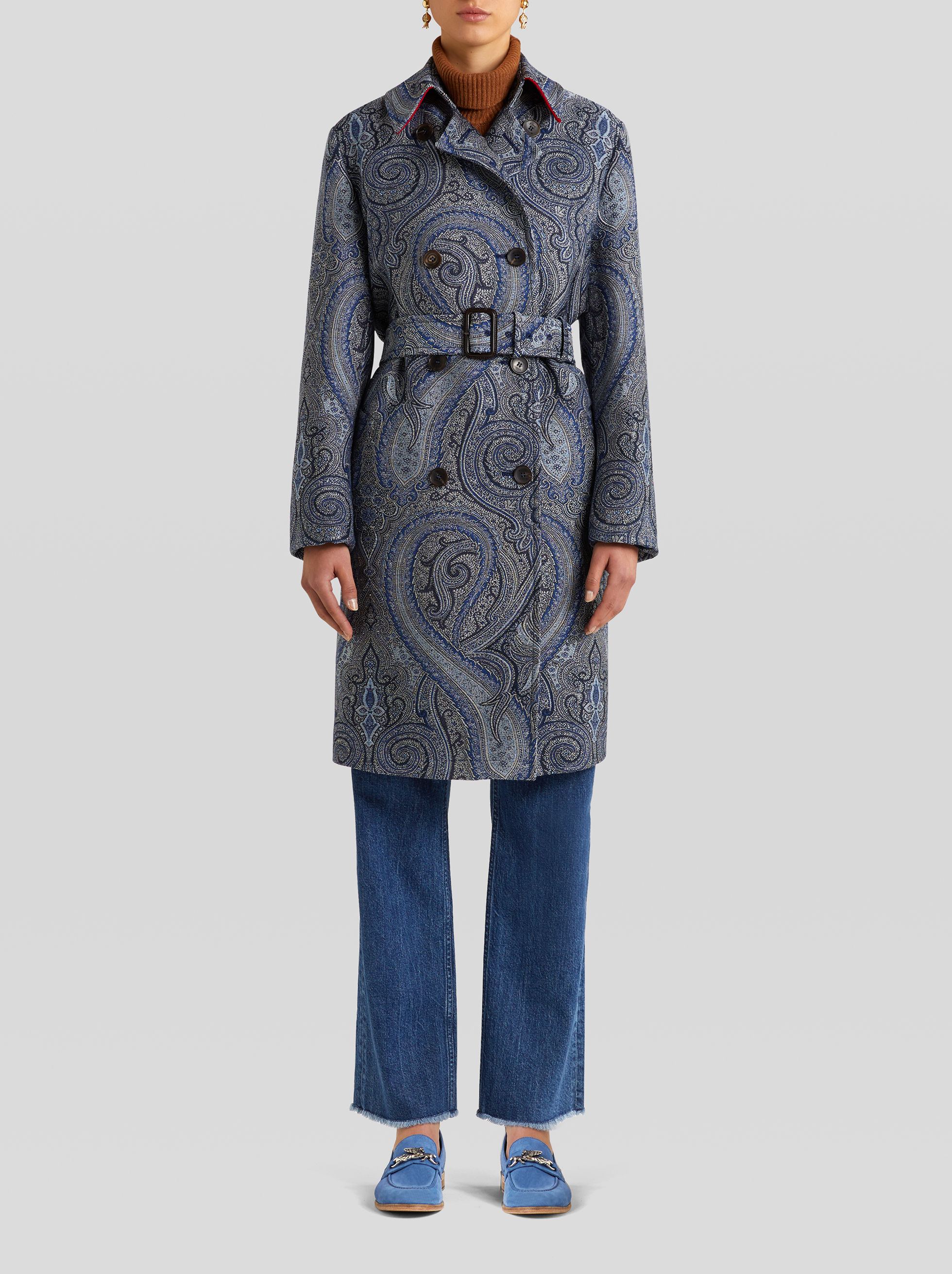 TRENCH JACQUARD PAISLEY