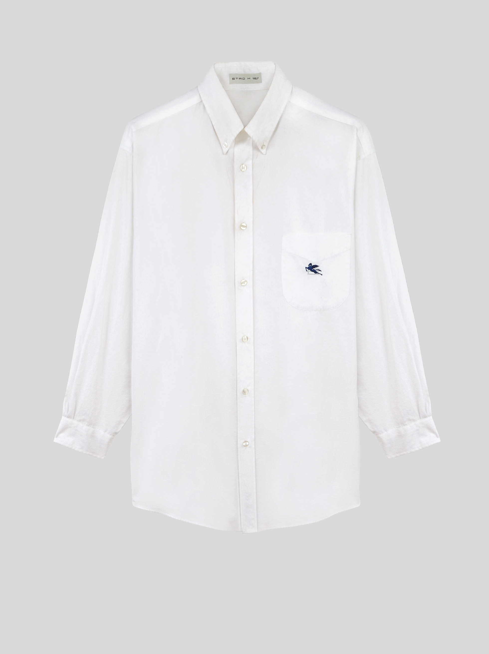 GE01 SHIRT WITH EMBROIDERED PEGASO