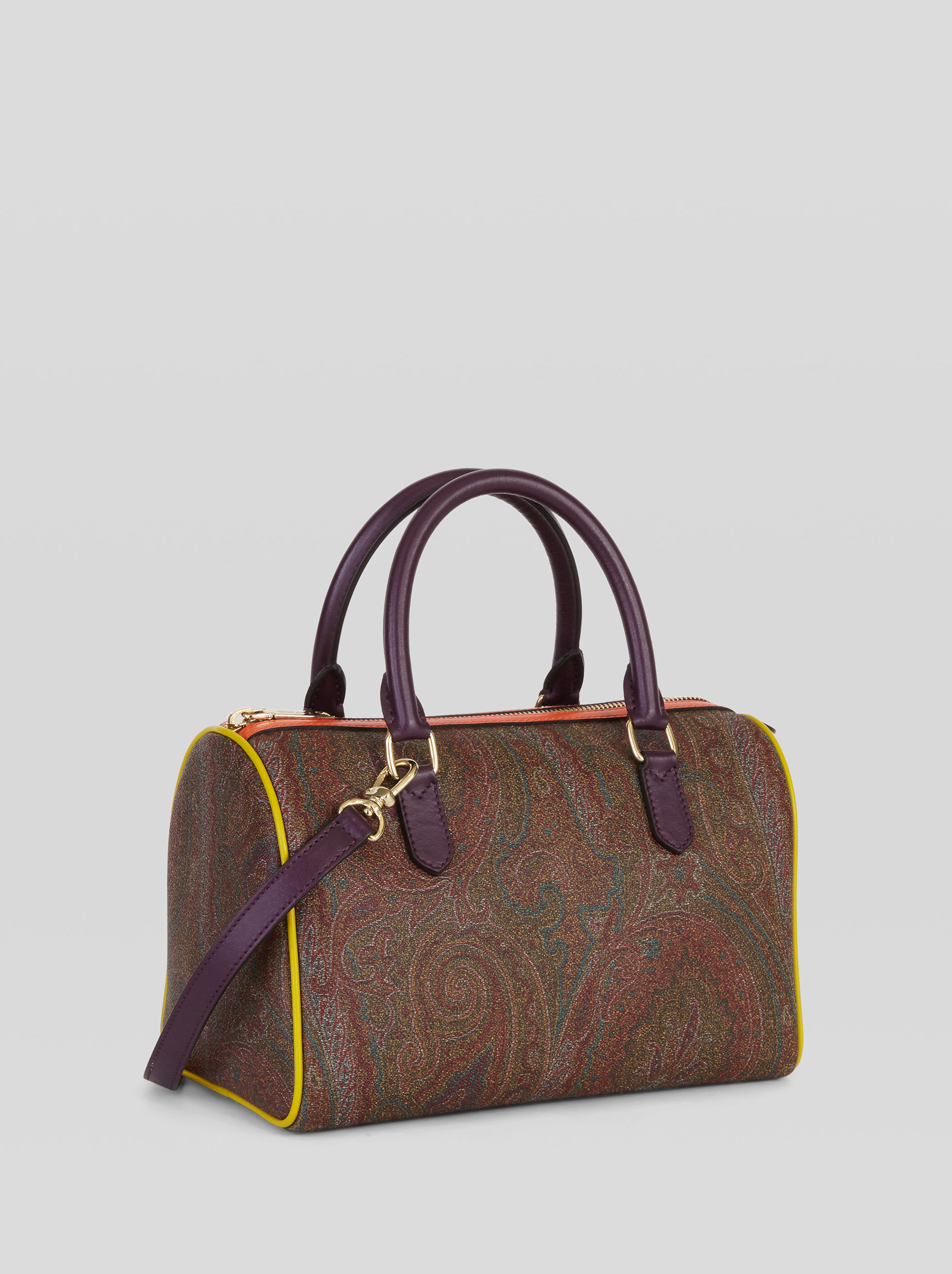 PAISLEY HANDBAG WITH MULTICOLOURED INSERTS