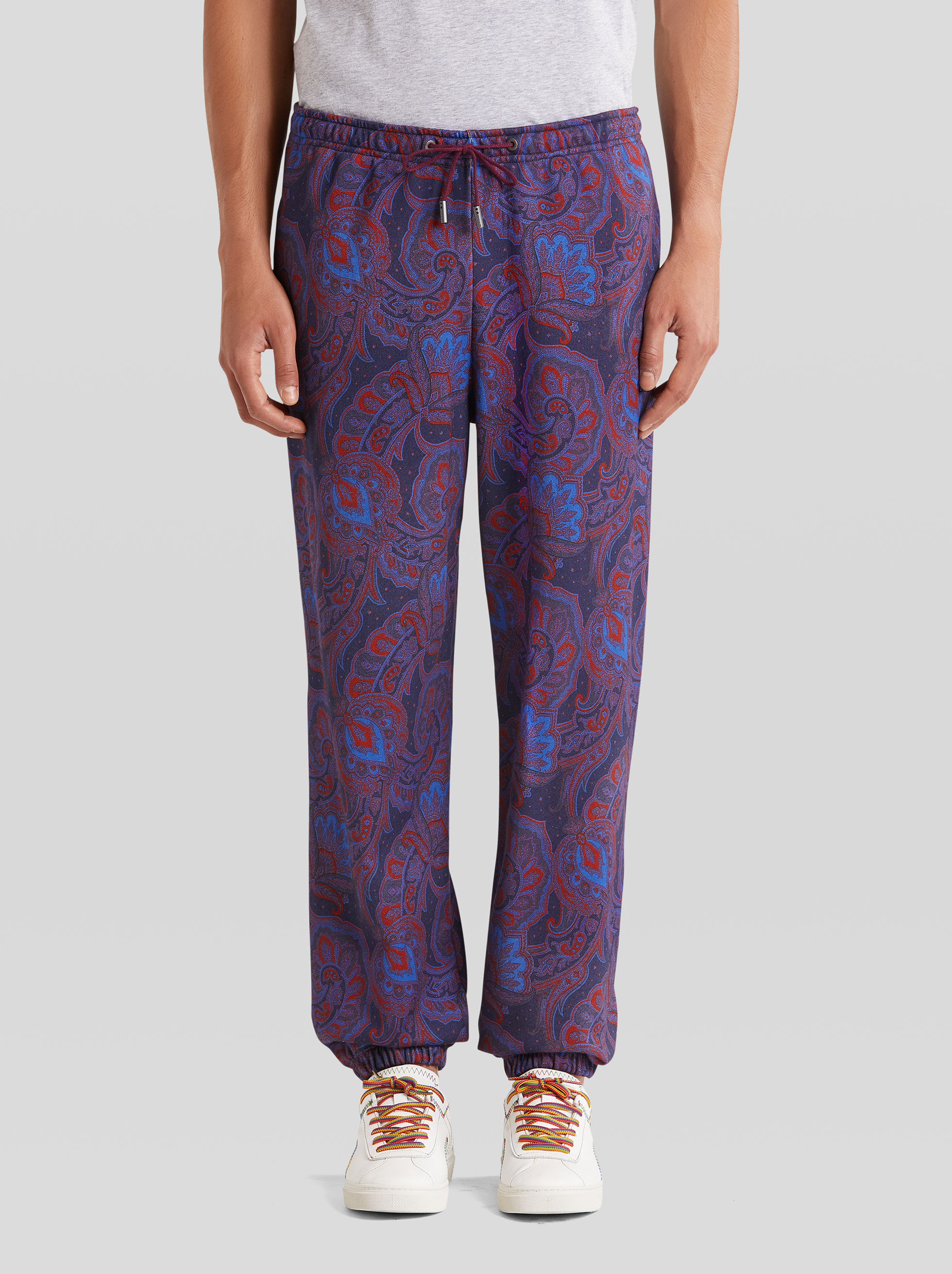 COTTON TROUSERS WITH PAISLEY PATTERNS