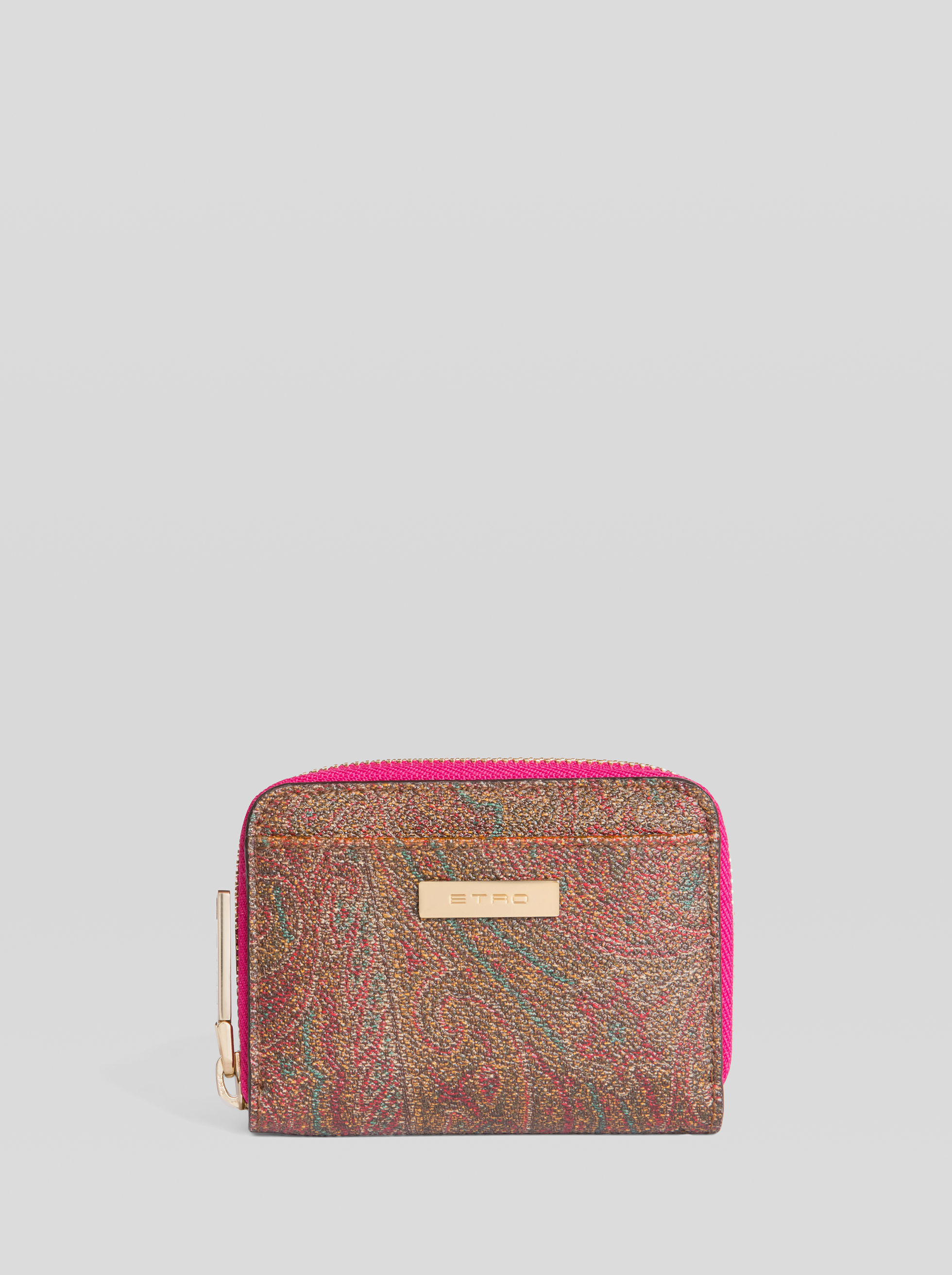 PAISLEY PURSE WITH MULTICOLOURED INTERIOR