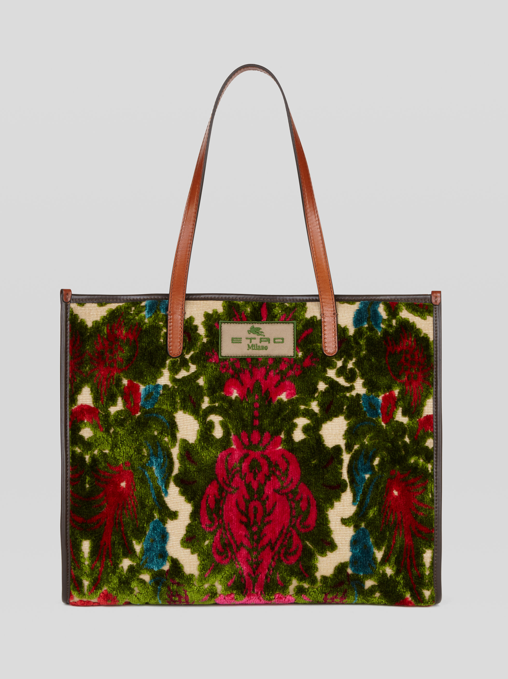 ÉPINGLÉ VELVET SHOPPING BAG