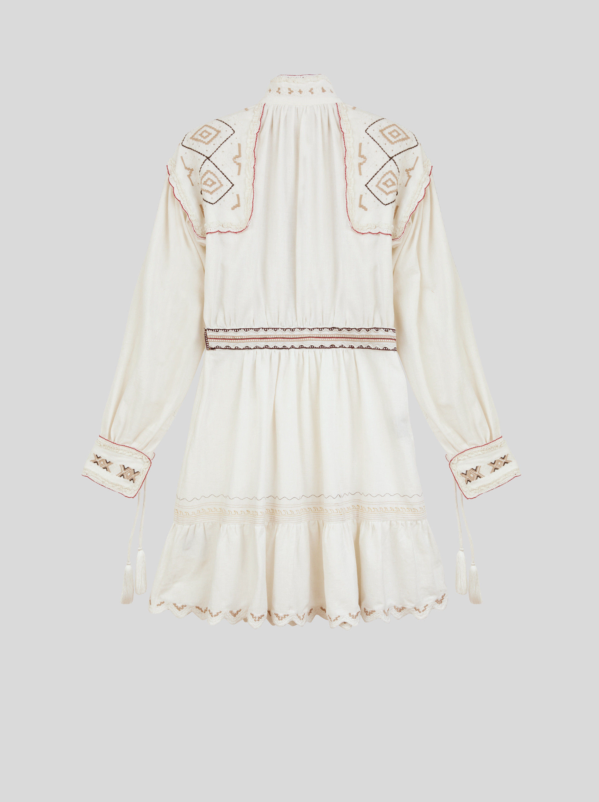 COTTON DRESS WITH EMBROIDERY