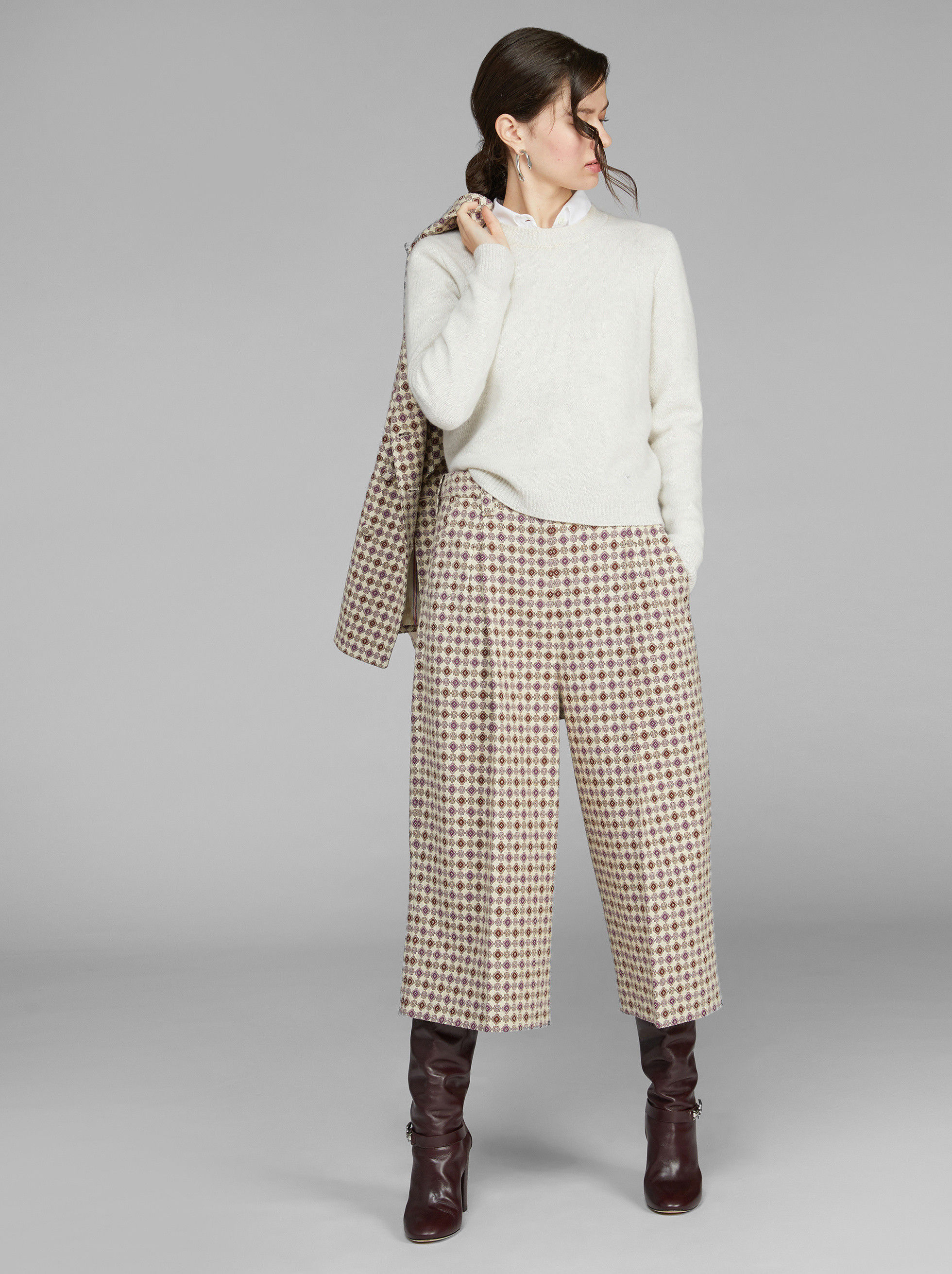 TIE FABRIC PRINT CULOTTES