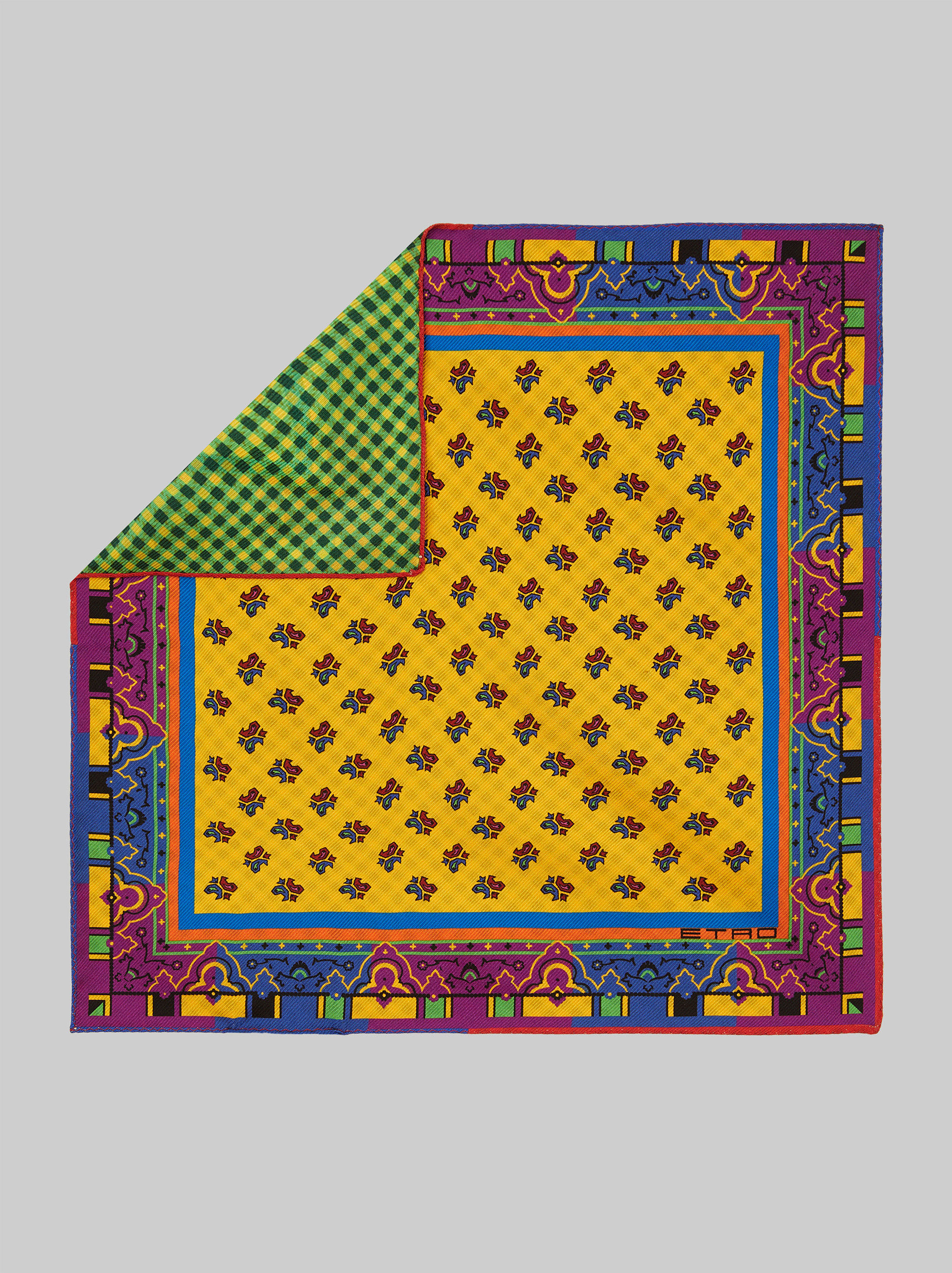 DOUBLE PRINT POCKET SQUARE