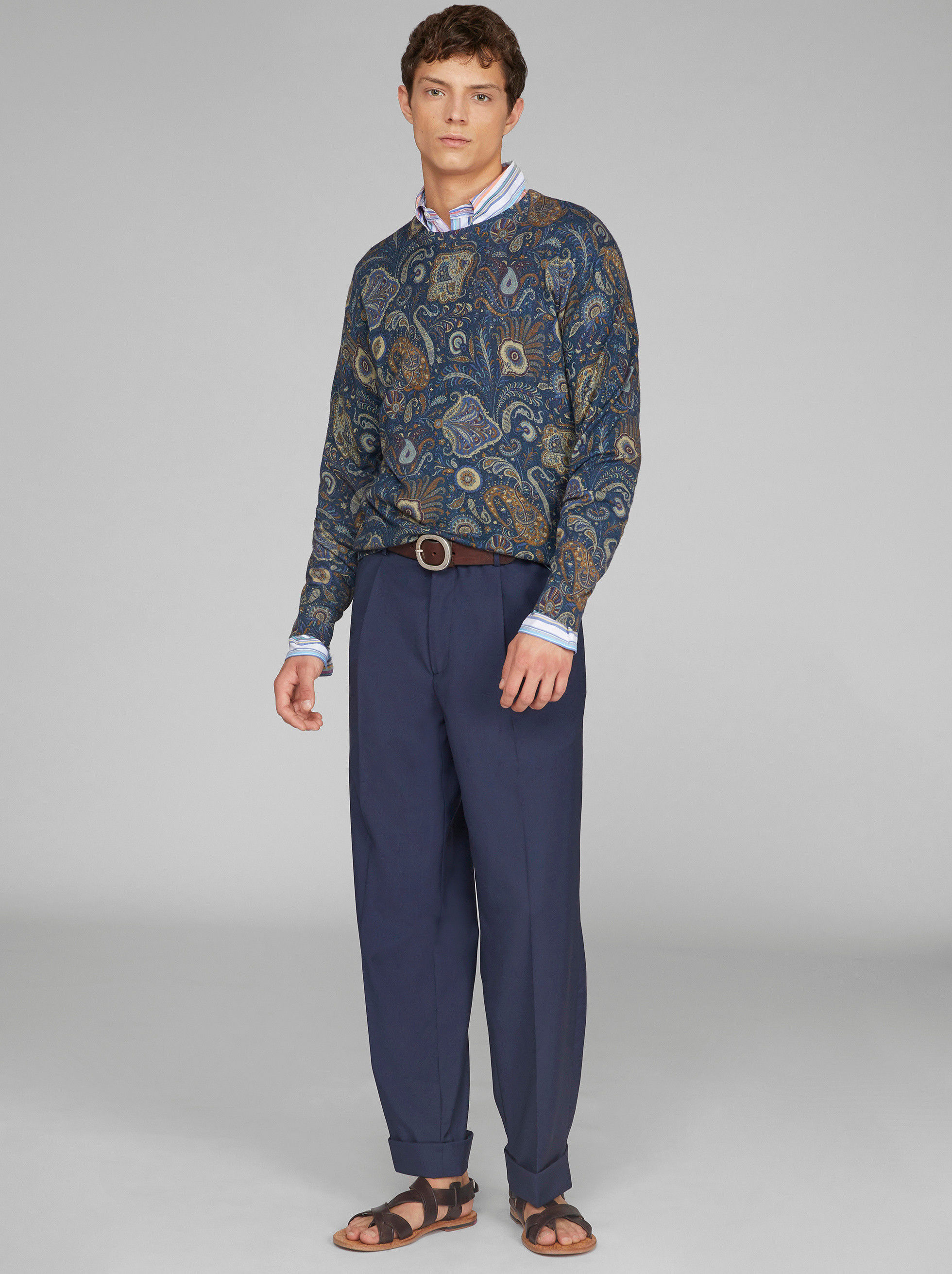 SILK AND CASHMERE PAISLEY PATTERN JUMPER