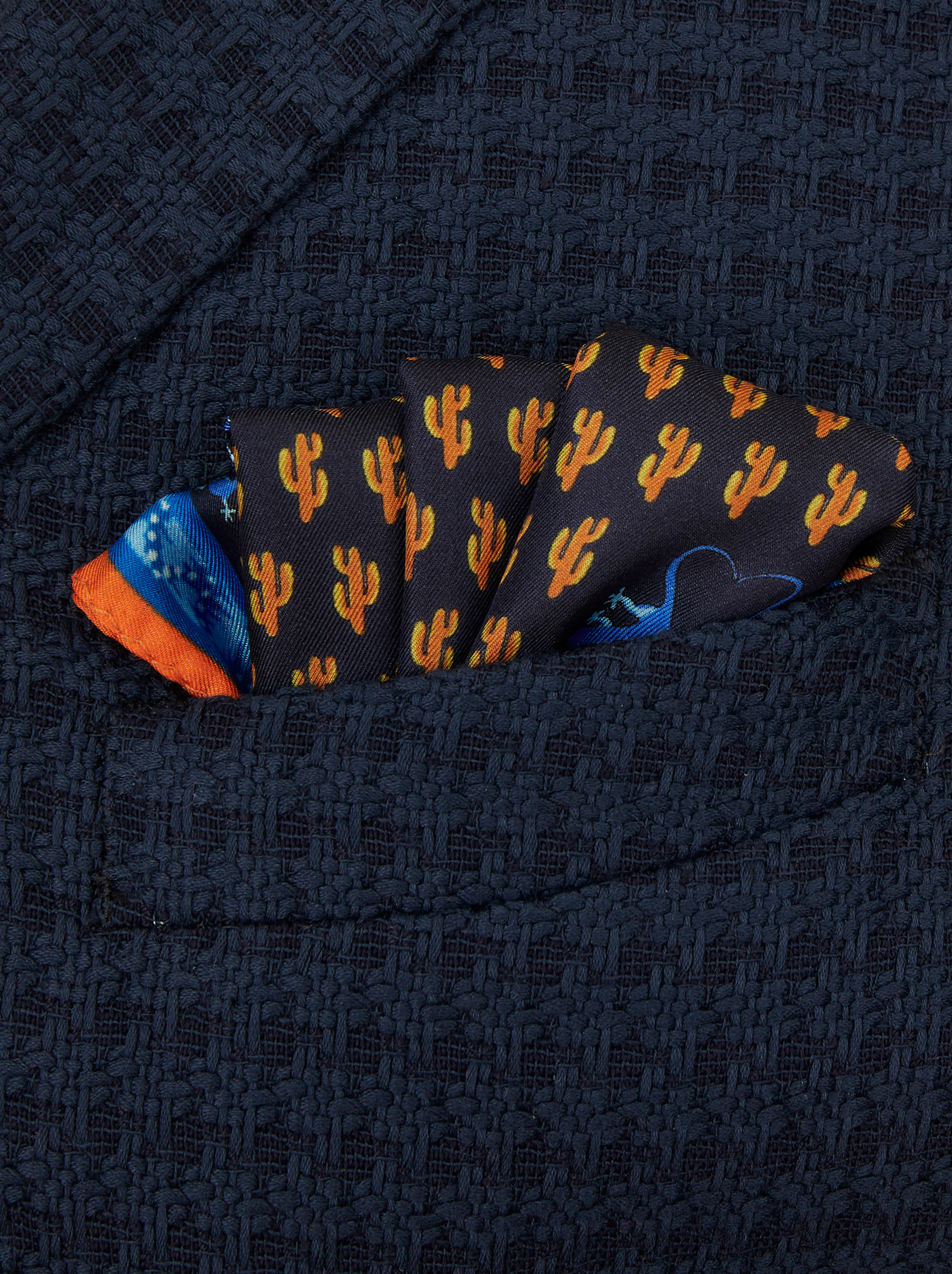 MICRO PATTERN POCKET SQUARE