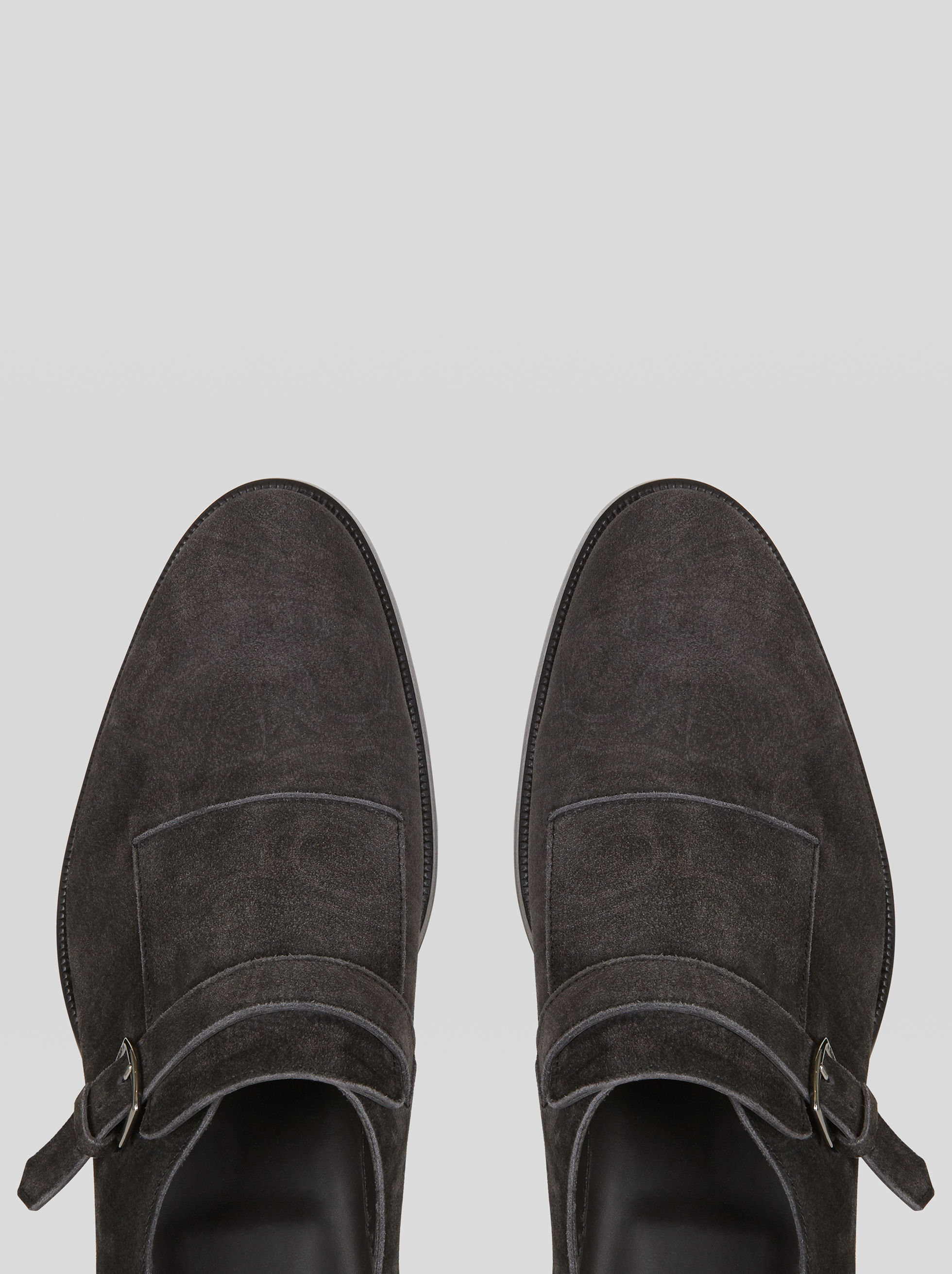 SUEDE MONK STRAPS WITH PAISLEY PRINT