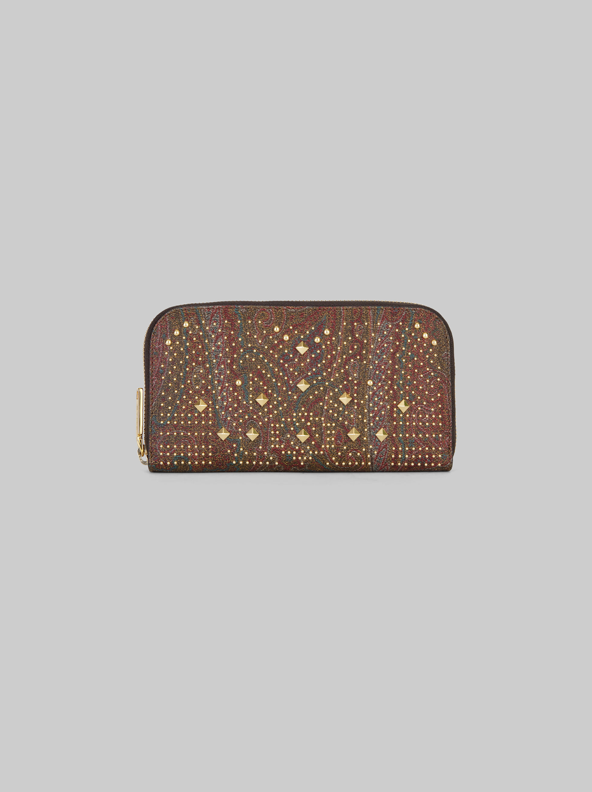 STUDDED PAISLEY WALLET