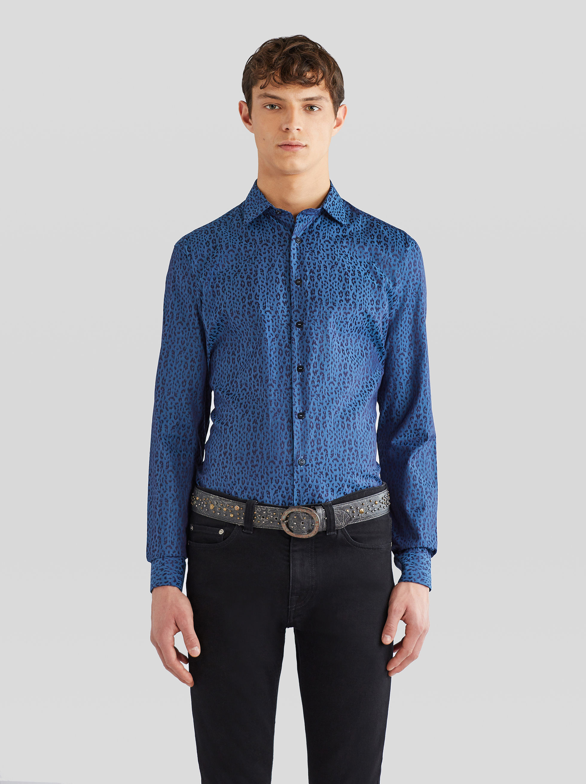 JACQUARD SHIRT WITH GIRAFFE PATTERN