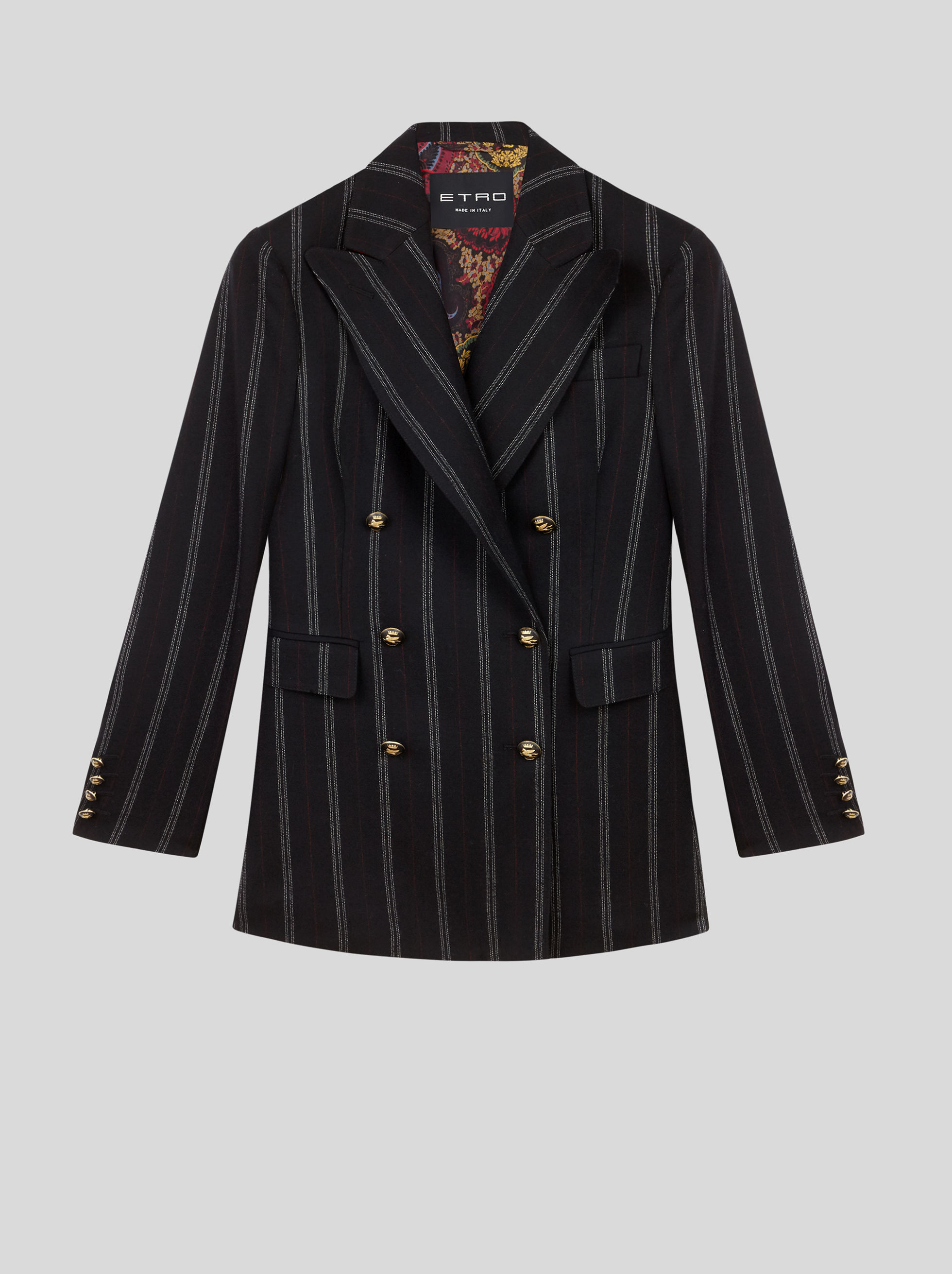 PINSTRIPE DOUBLE-BREASTED JACKET