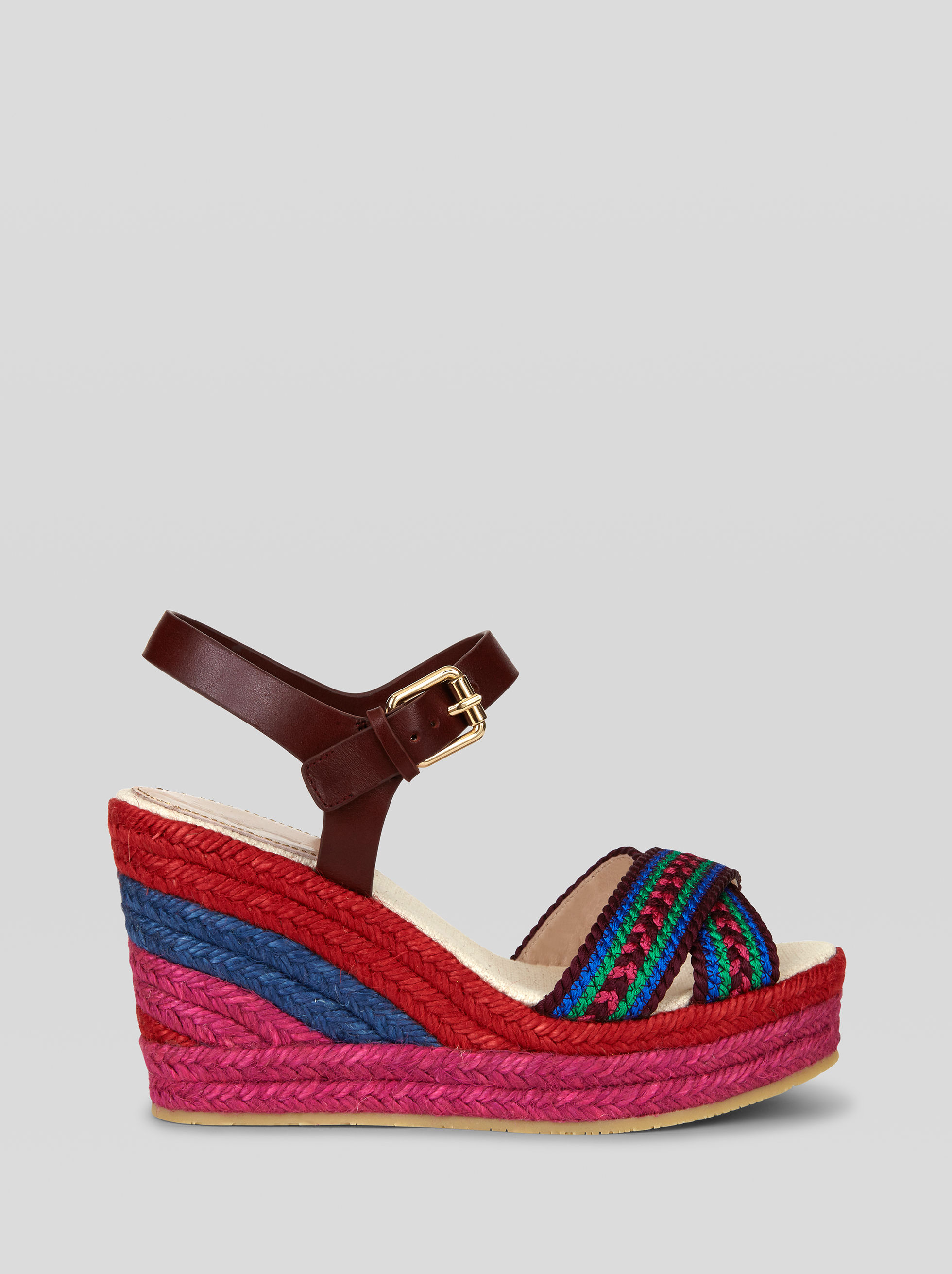 MULTI-COLOURED WEDGE SANDALS