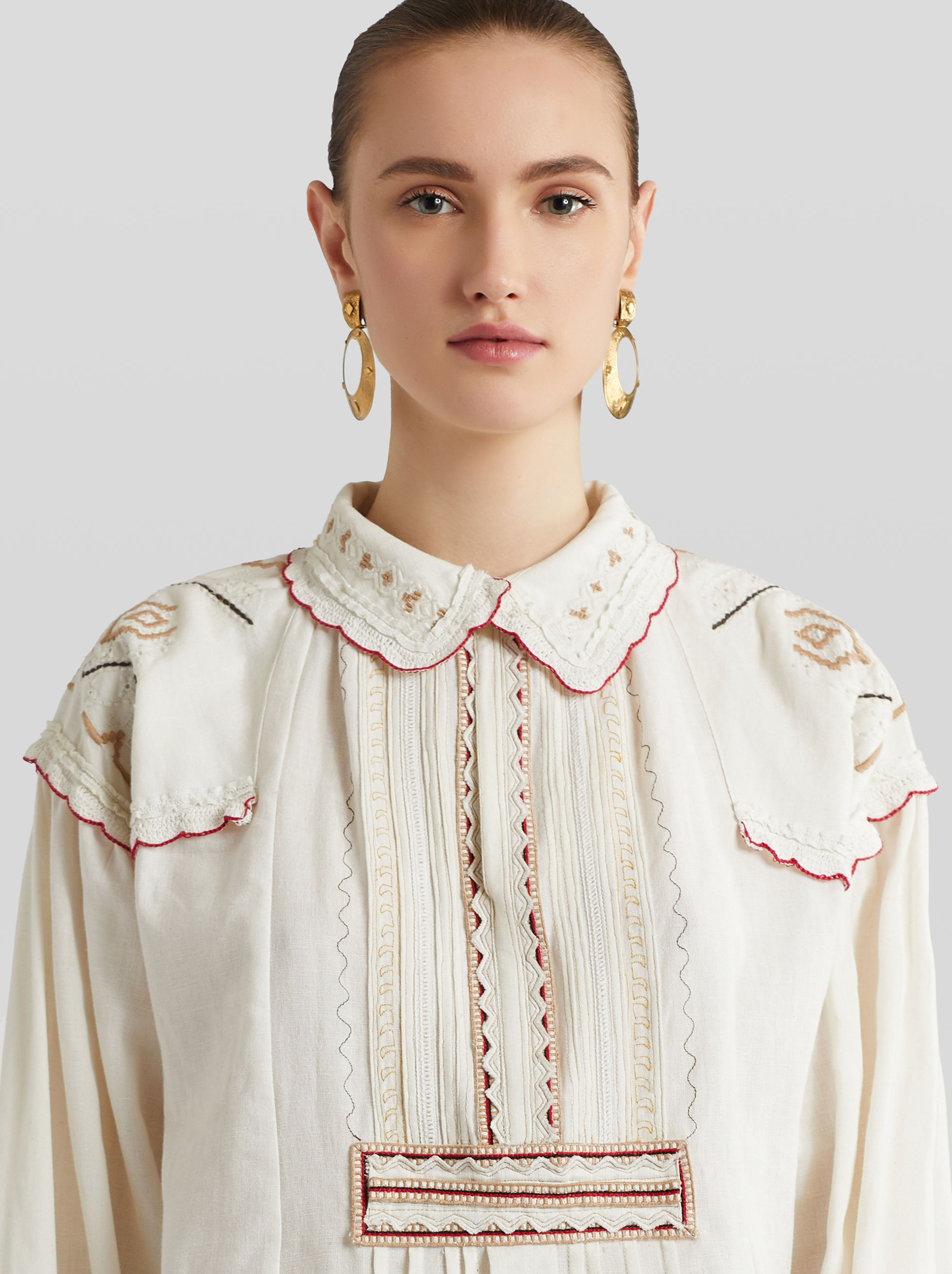 COTTON SHIRT WITH EMBROIDERY