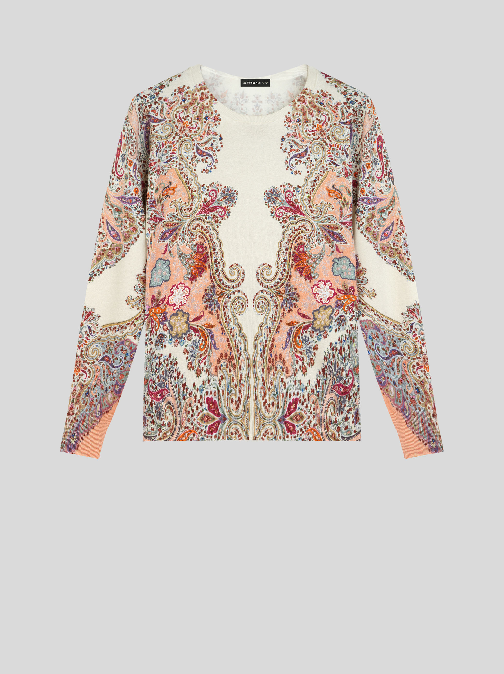 SILK JUMPER WITH PAISLEY PRINT