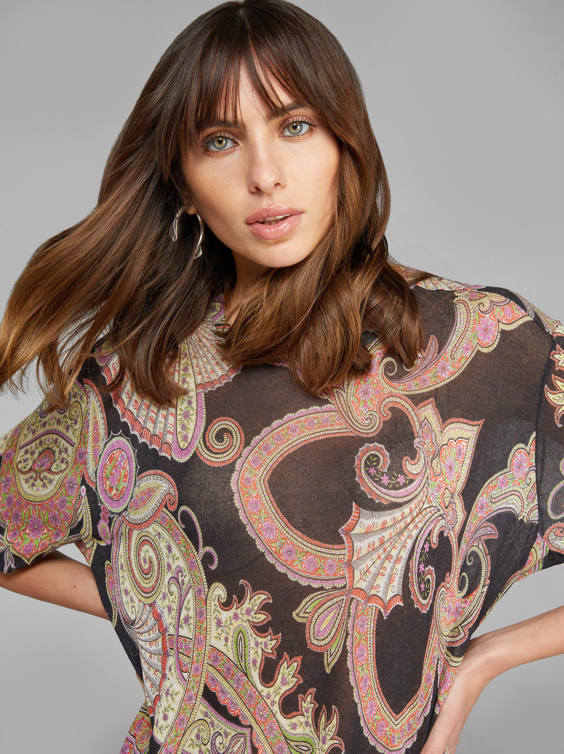 PULLOVER MIT PAISLEY-PRINT