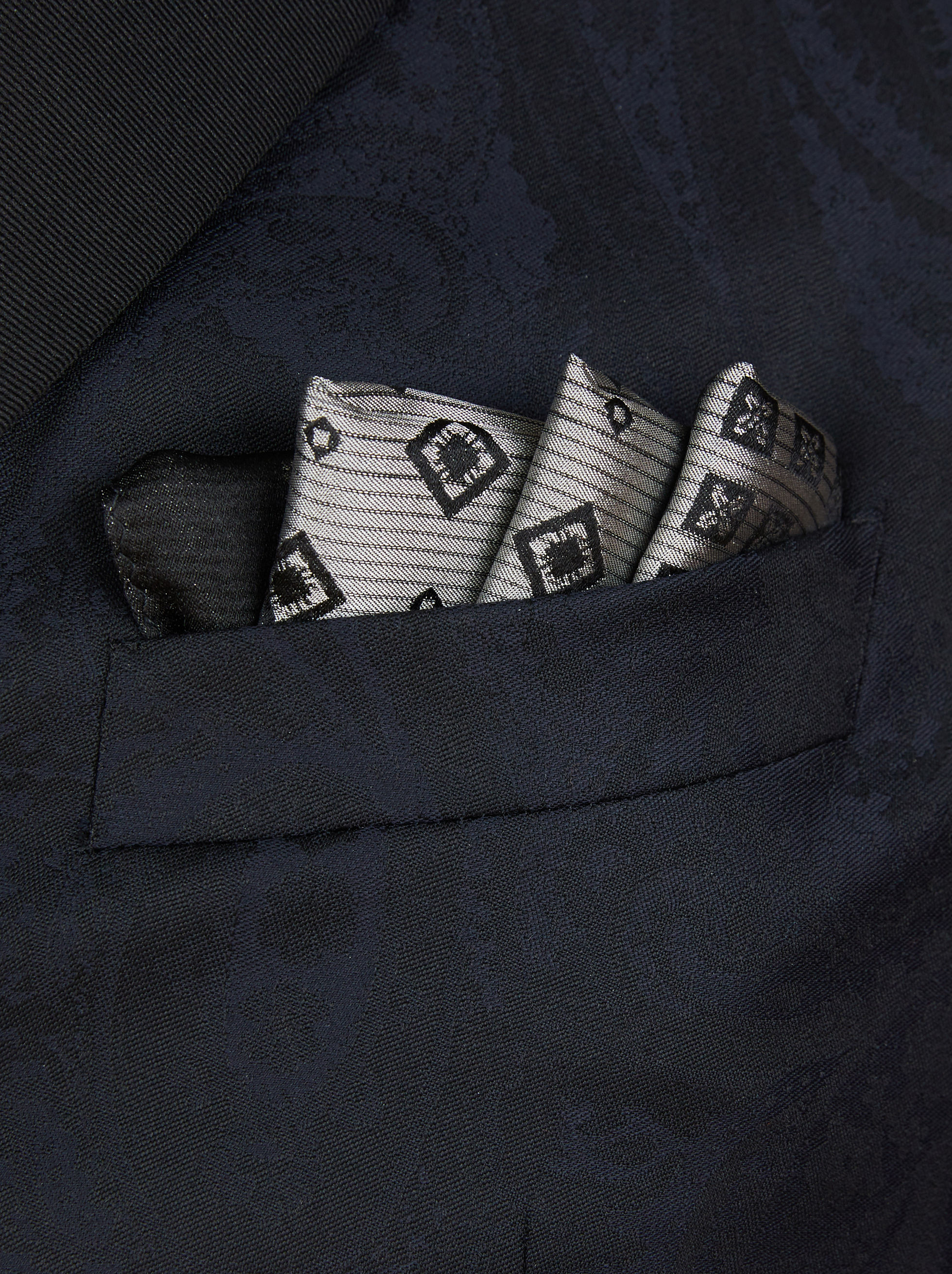 PATCHWORK PRINT POCKET HANDKERCHIEF
