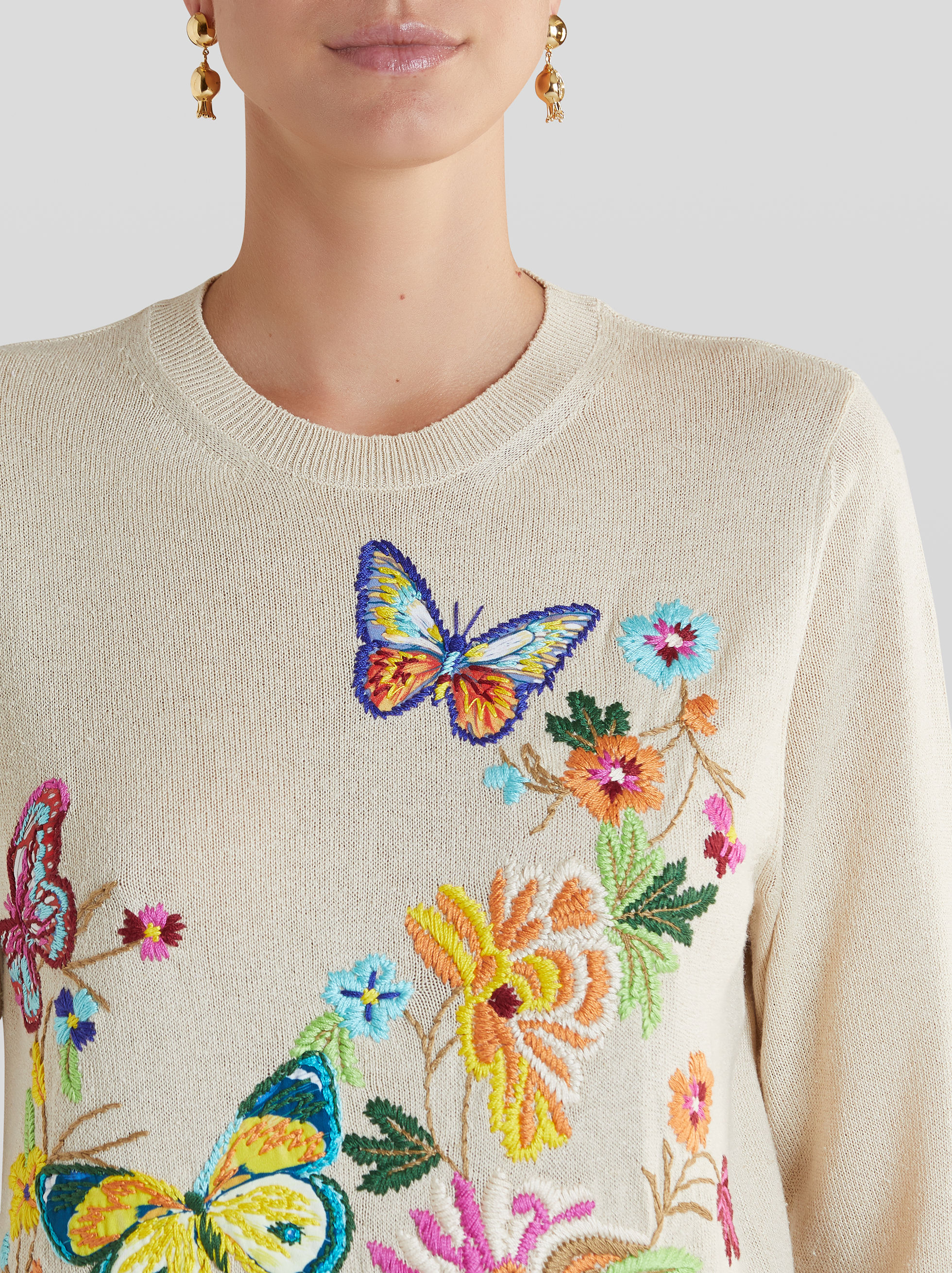 EMBROIDERED SILK JUMPER