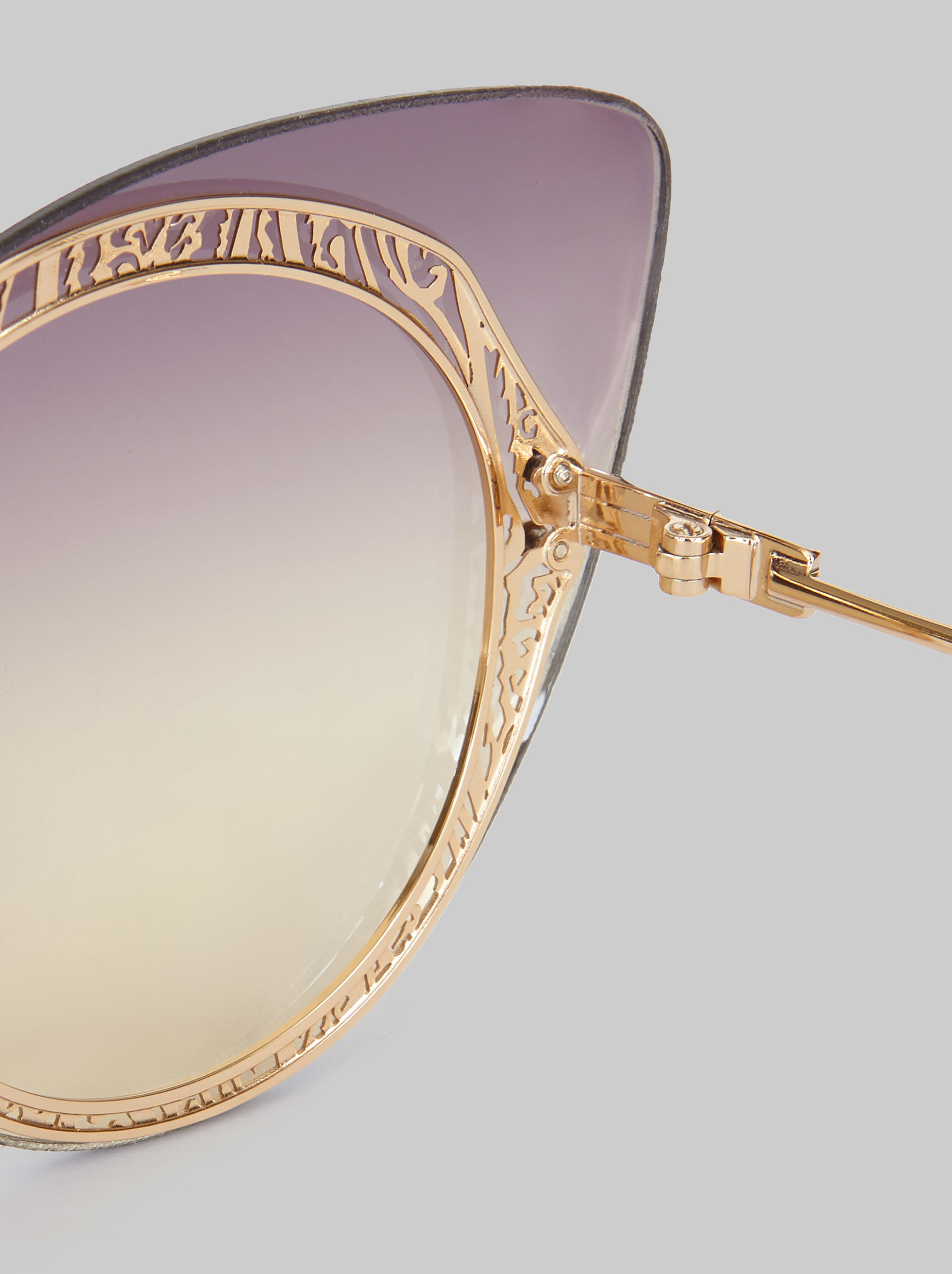 CAT-EYE SUNGLASSES WITH PAISLEY DECORATION