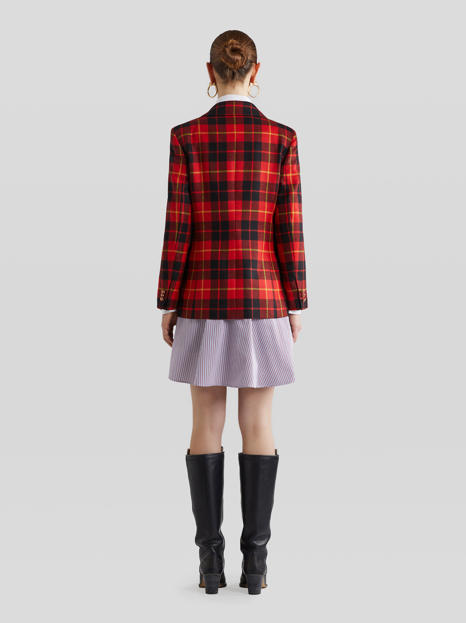 TARTAN WOOL TAILORED JACKET
