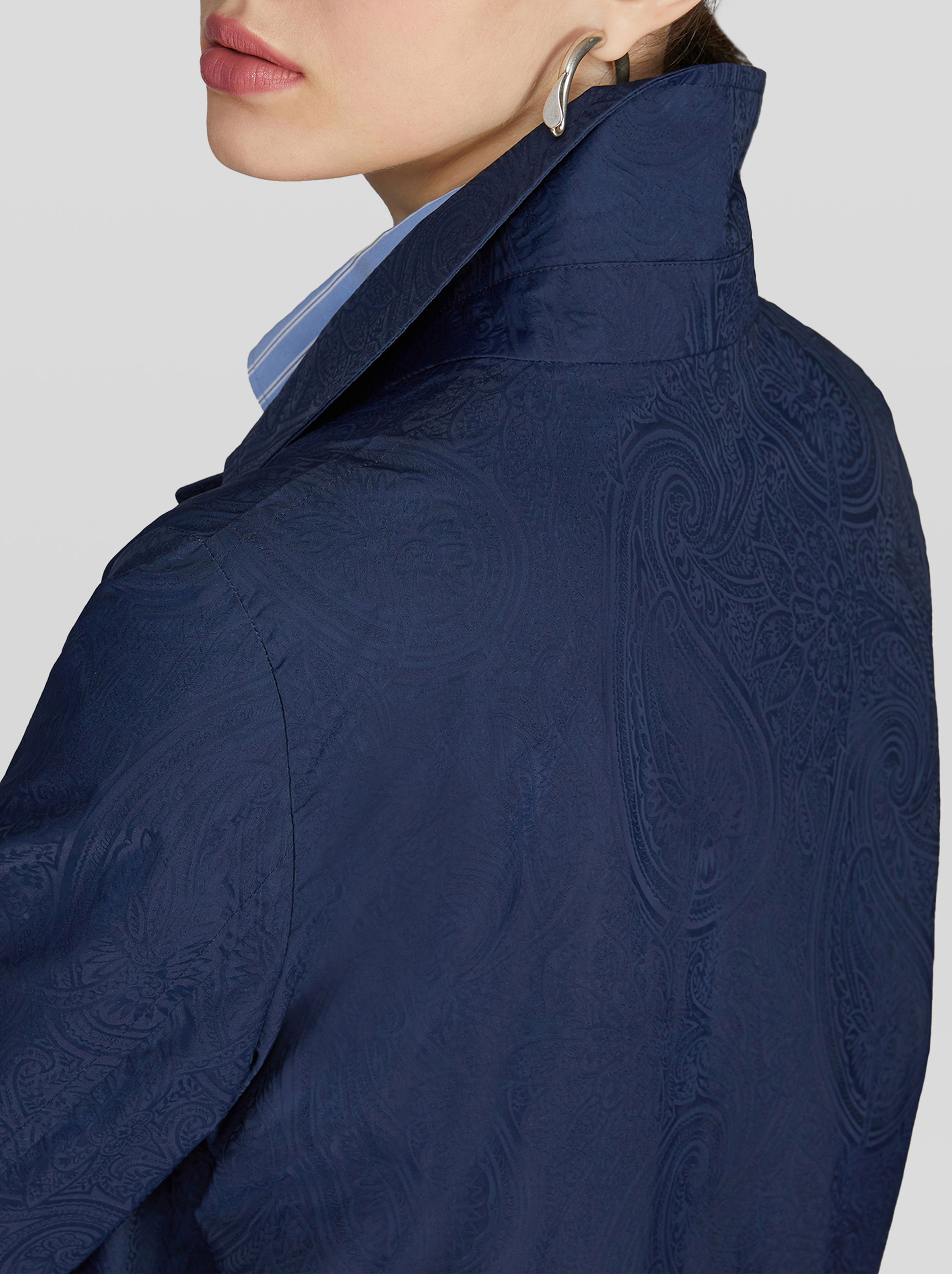 PAISLEY PATTERN TRENCH COAT
