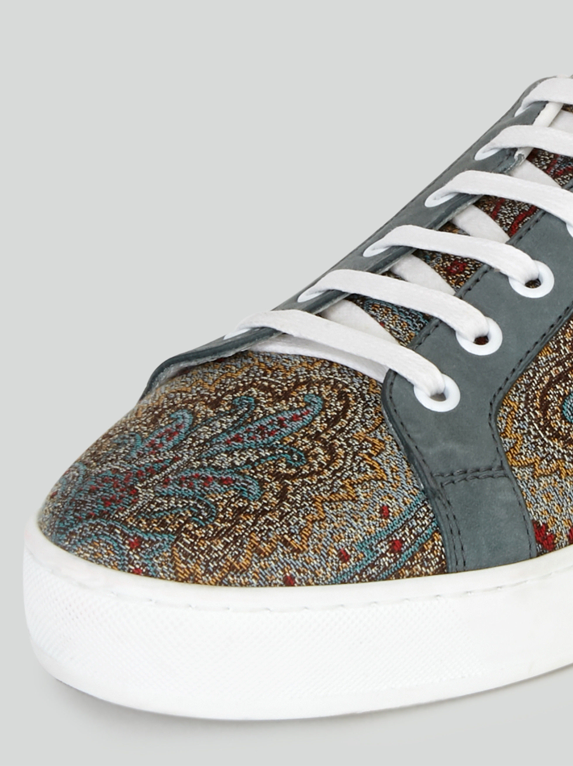 PAISLEY SNEAKERS WITH NUBUCK DETAILING