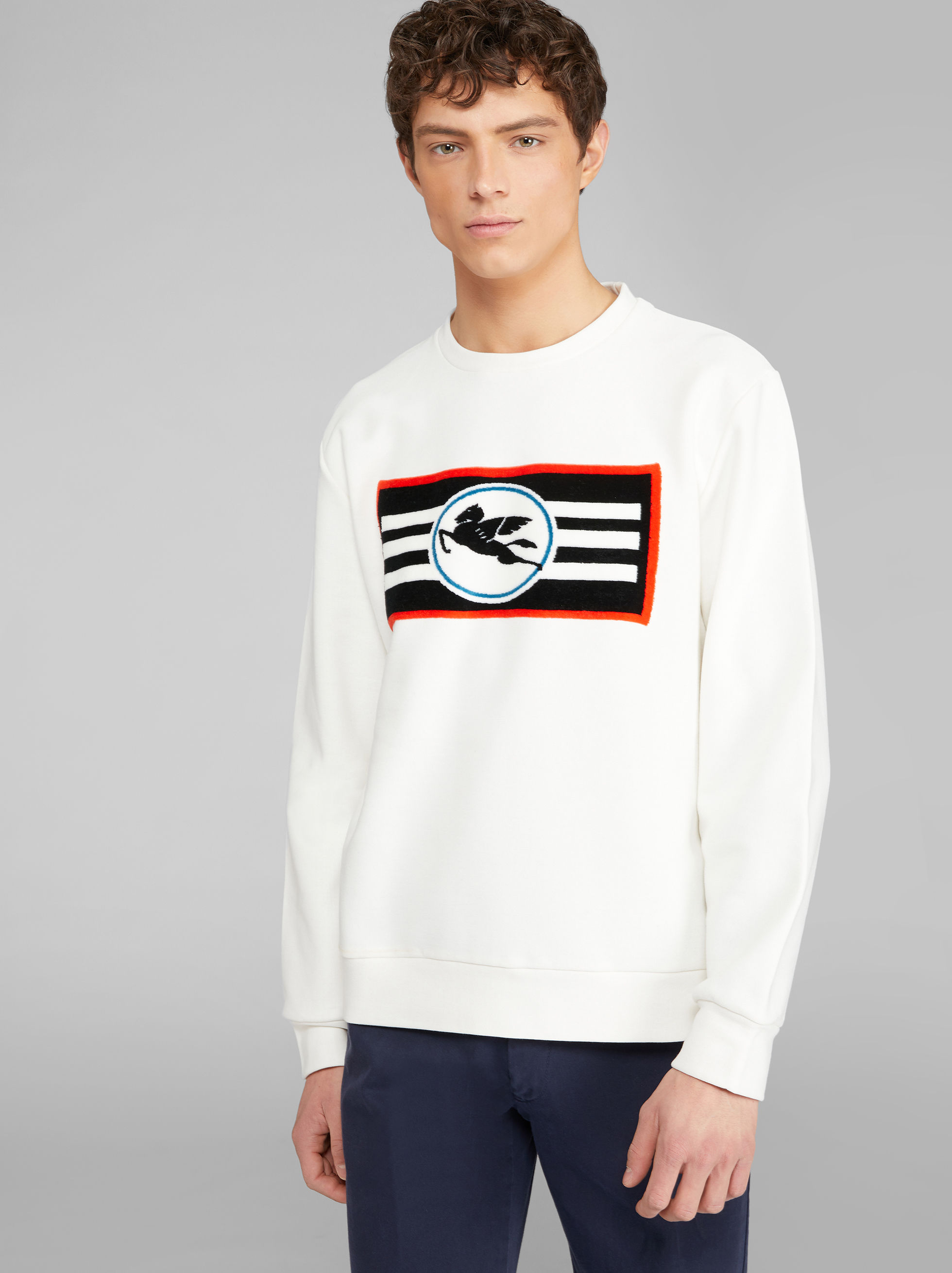 COTTON SWEATSHIRT WITH PEGASO LOGO