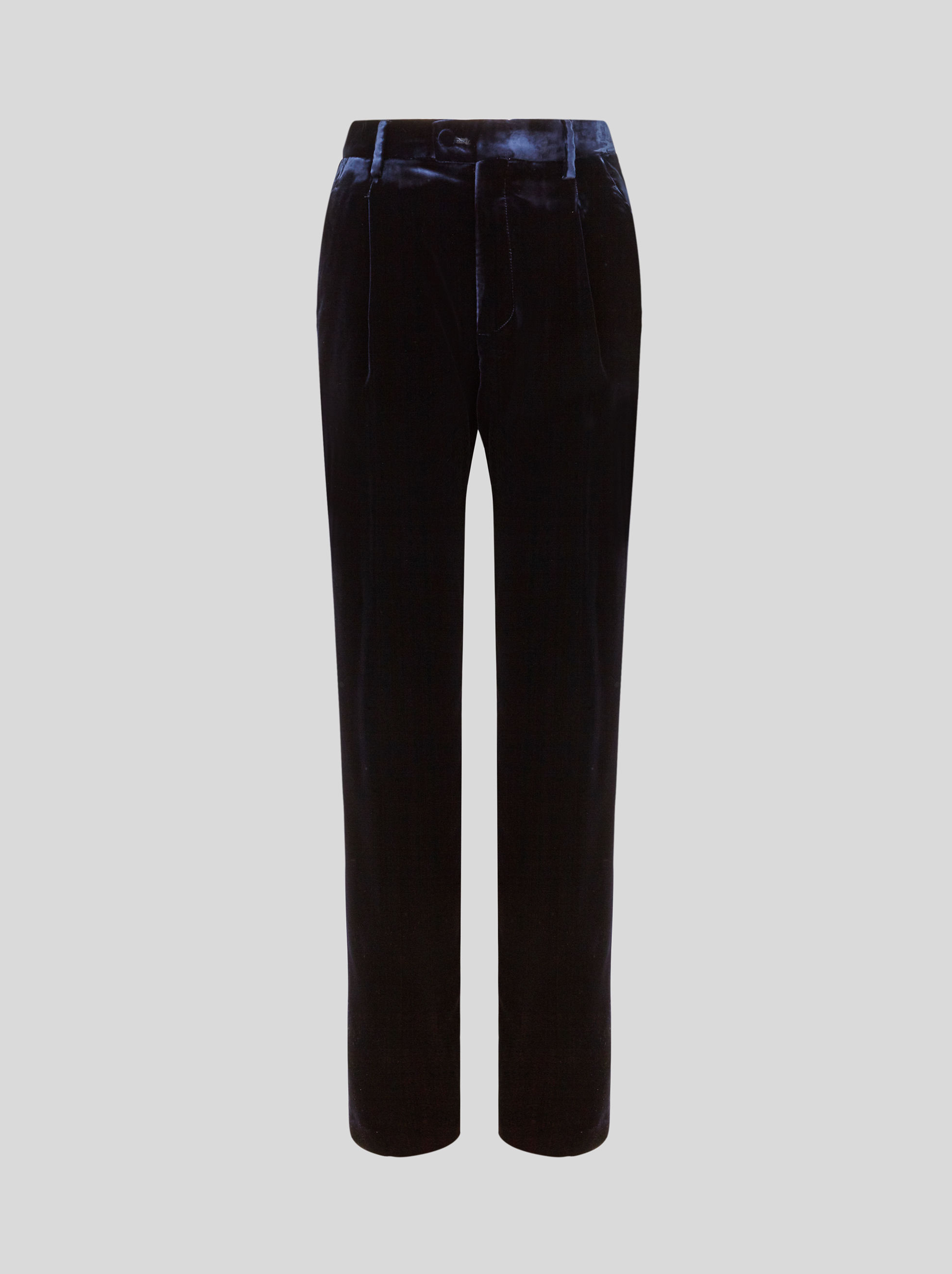 VELVET TAILORED TROUSERS