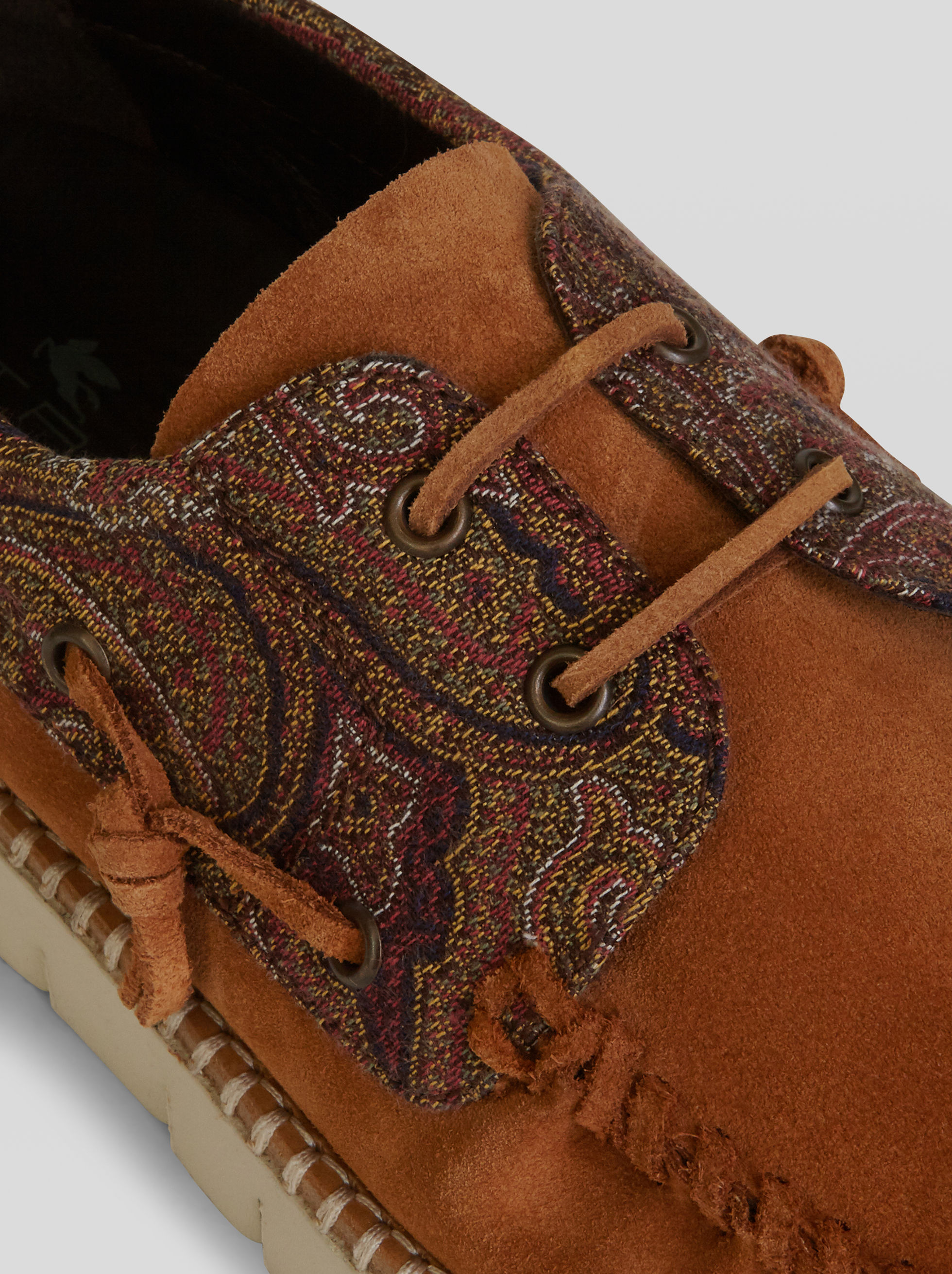 PAISLEY JACQUARD BOAT SHOES