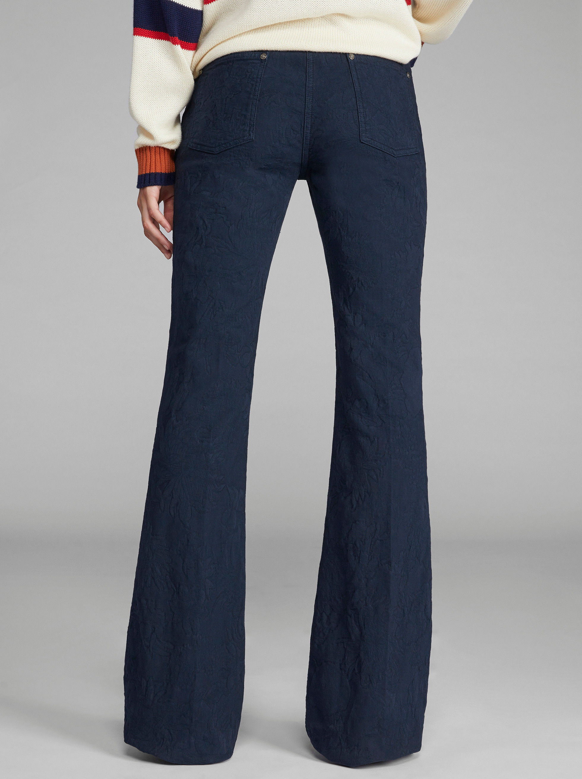 FLARED JACQUARD JEANS