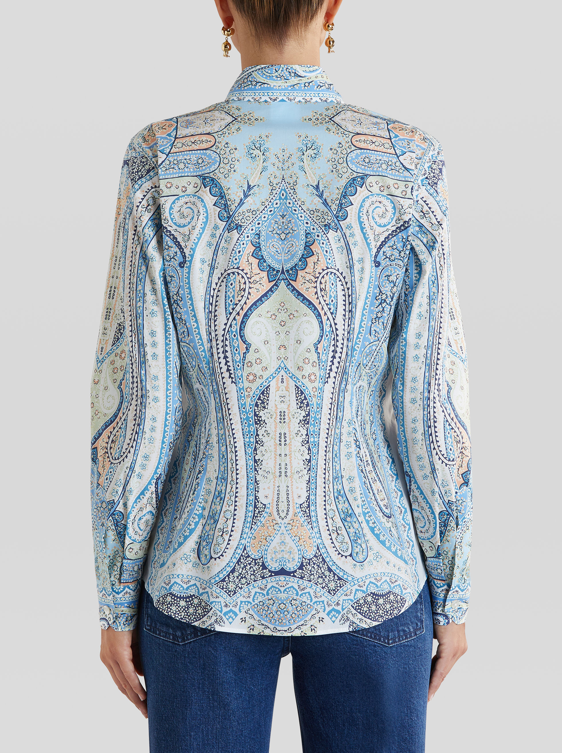 PRINTED PAISLEY PATTERN SHIRT