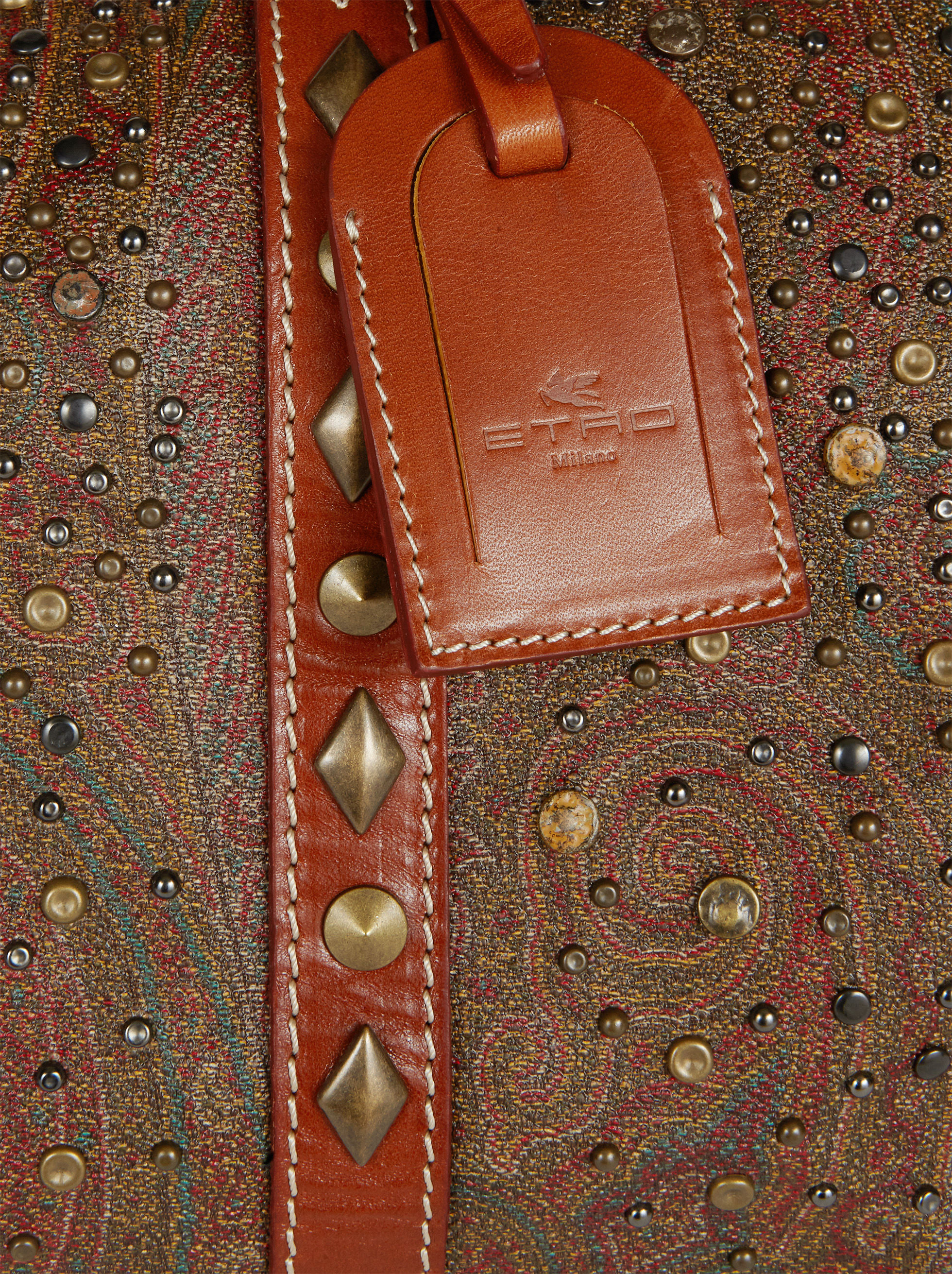 PAISLEY TRAVEL BAG WITH STUDS