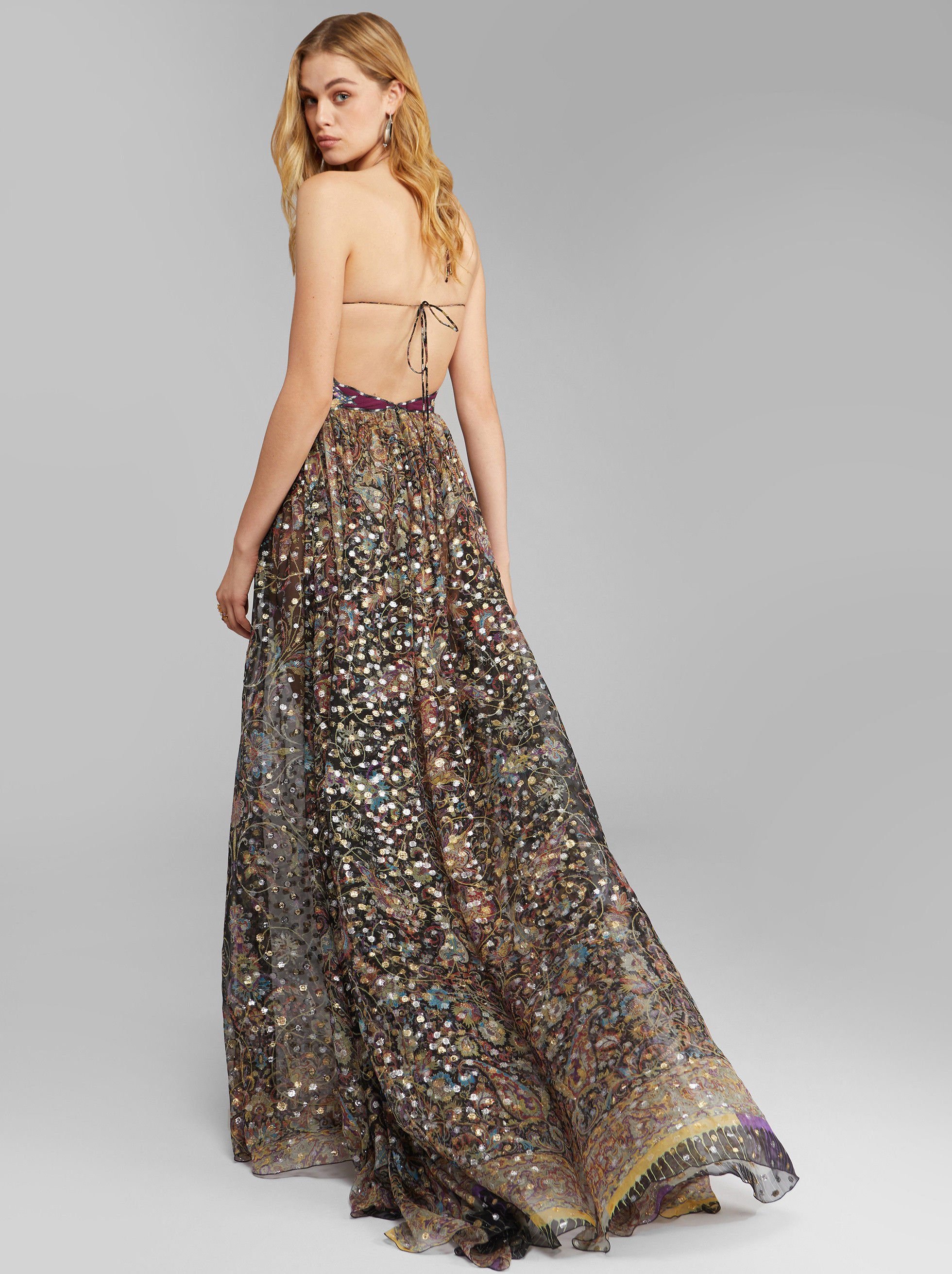 EVENING DRESS WITH LUREX DOTS