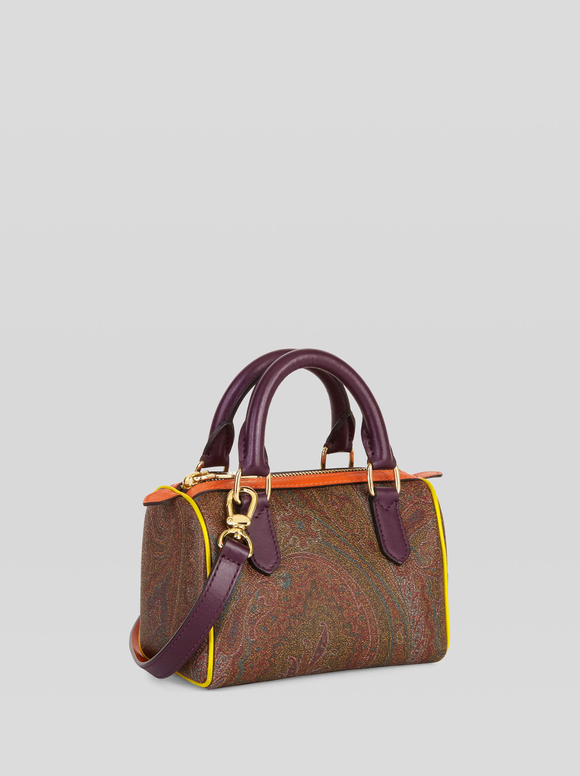 PAISLEY MINI BOSTON BAG WITH MULTICOLOURED DETAILS