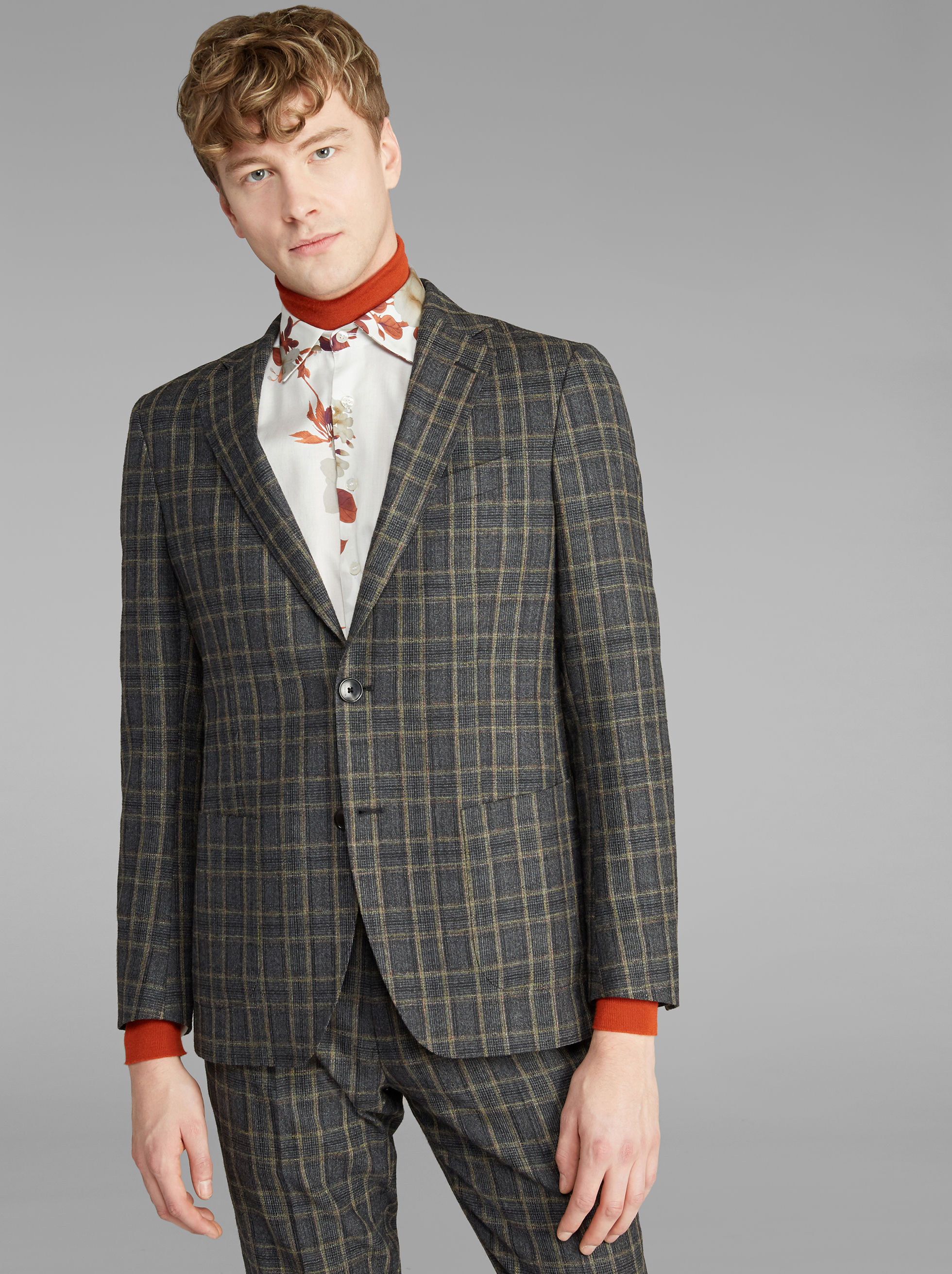 DECONSTRUCTED CHECK SUIT